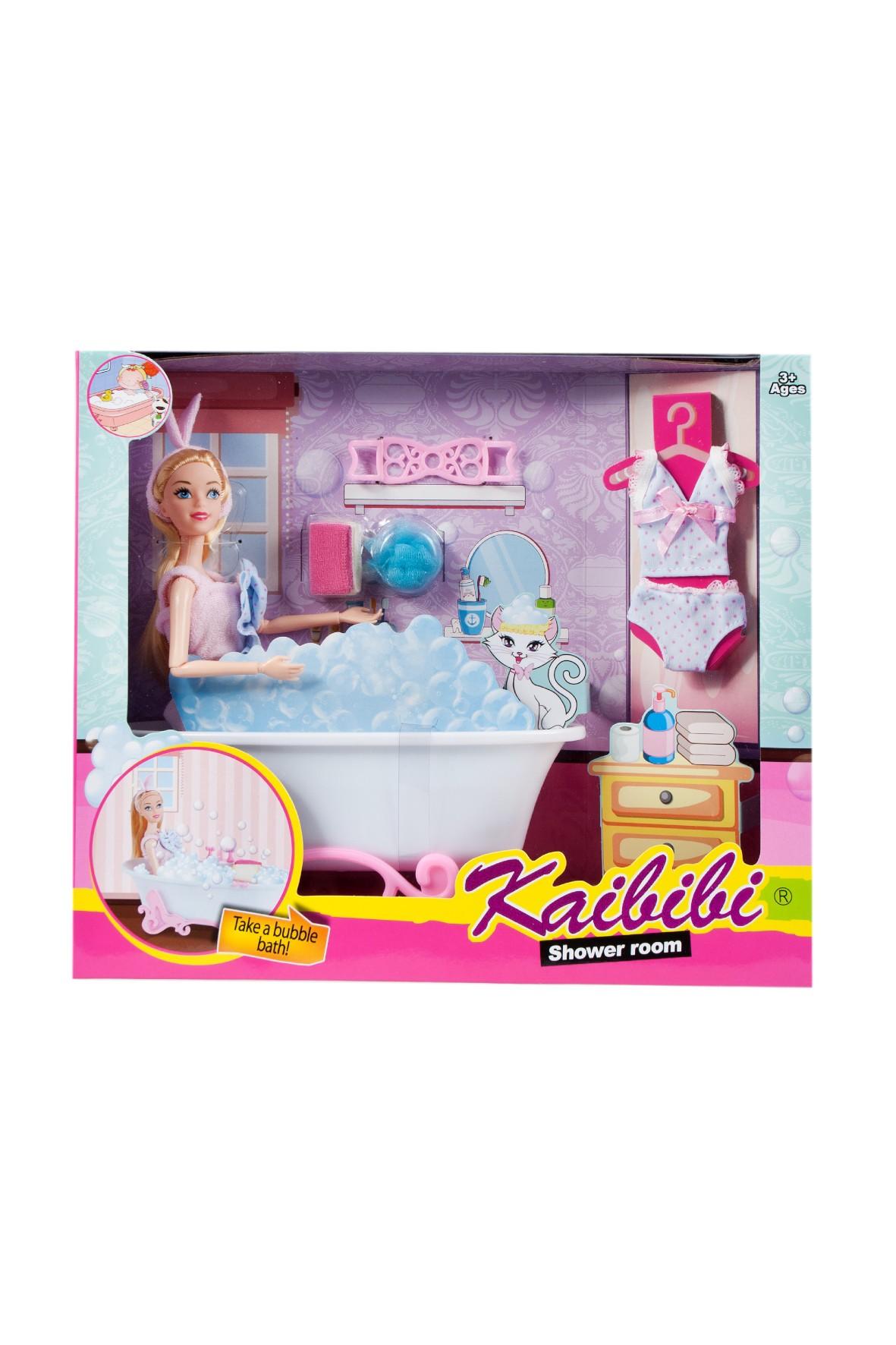 Lalka i  łazienka Mega Creative 3+