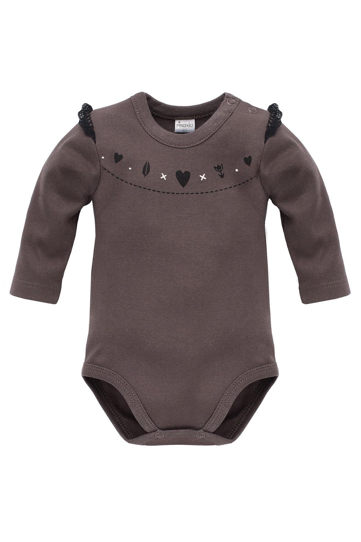 Body niemowlęce Little Bird - brąz