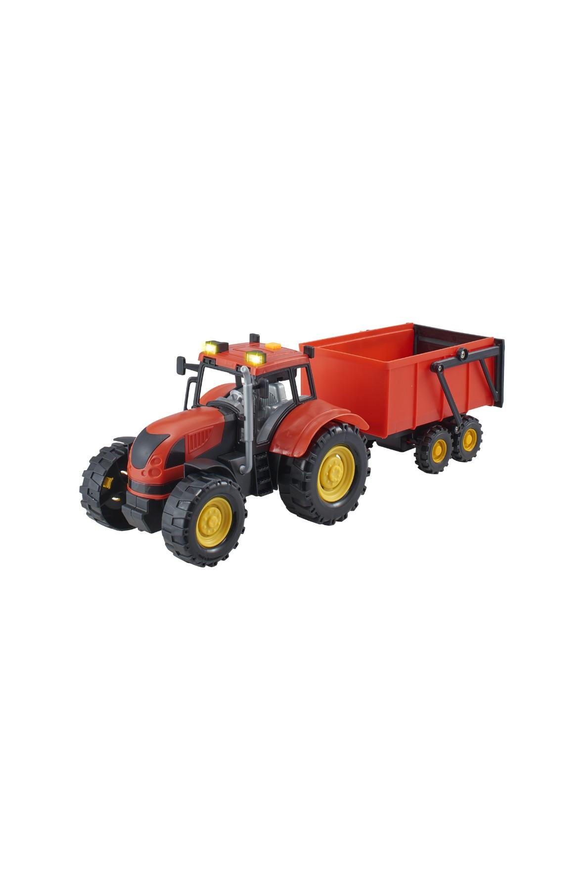 Agro pojazdy - Traktor z naczepą czerwony wiek 3+