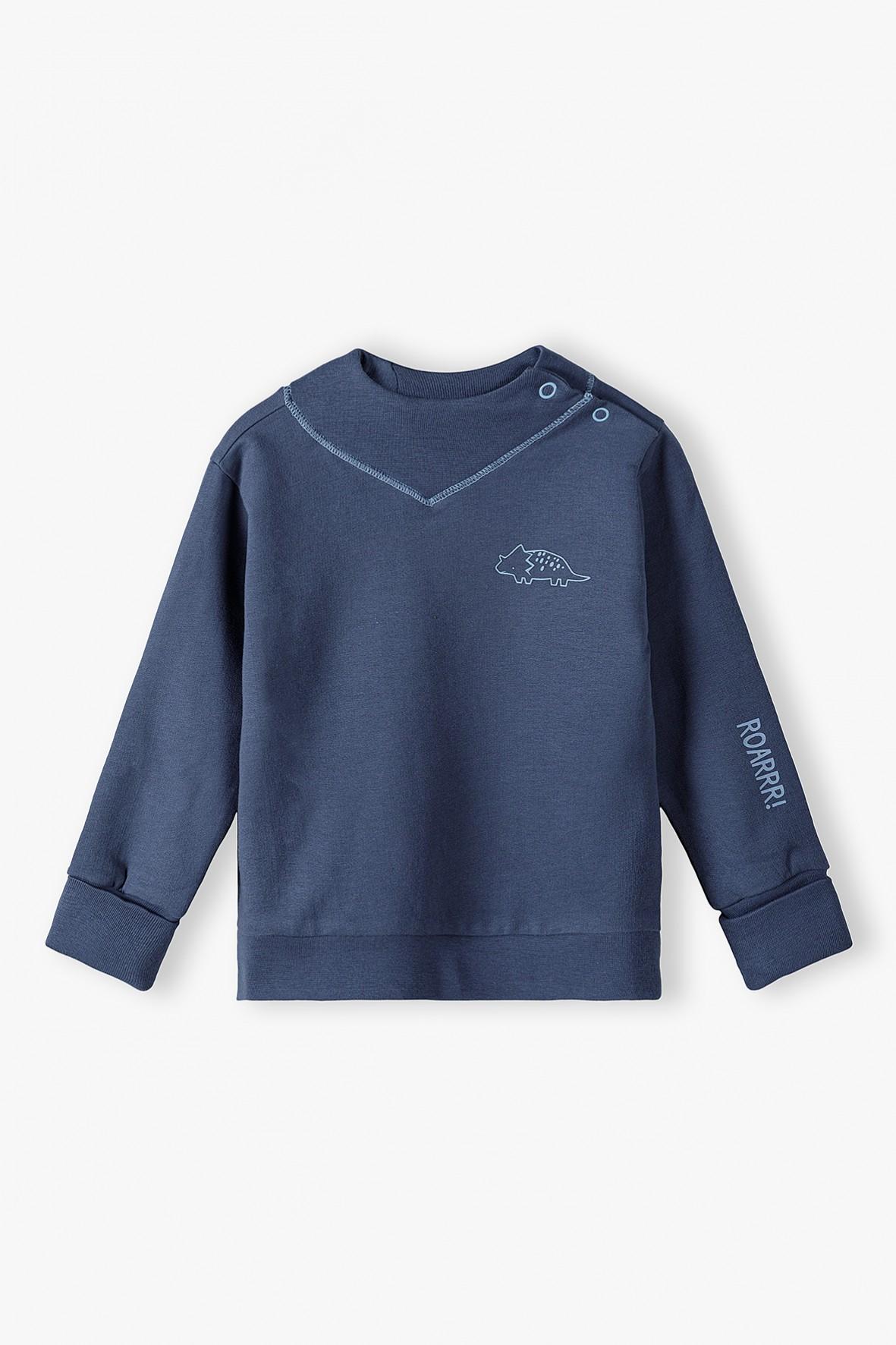Bluza dresowa niemowlęca ROSNĘ Z TOBĄ - niebieska