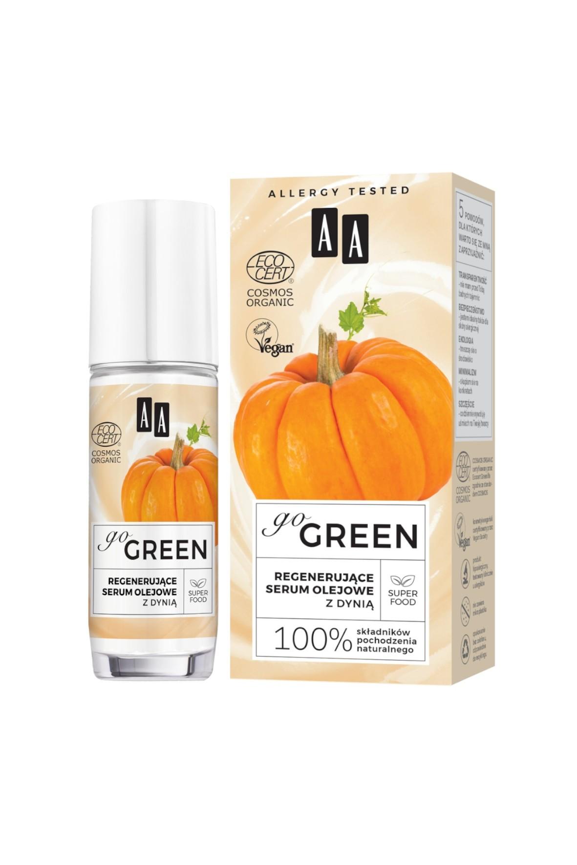 AA Go Green regenerujące serum olejowe z dynią ORGANIC 30 ml