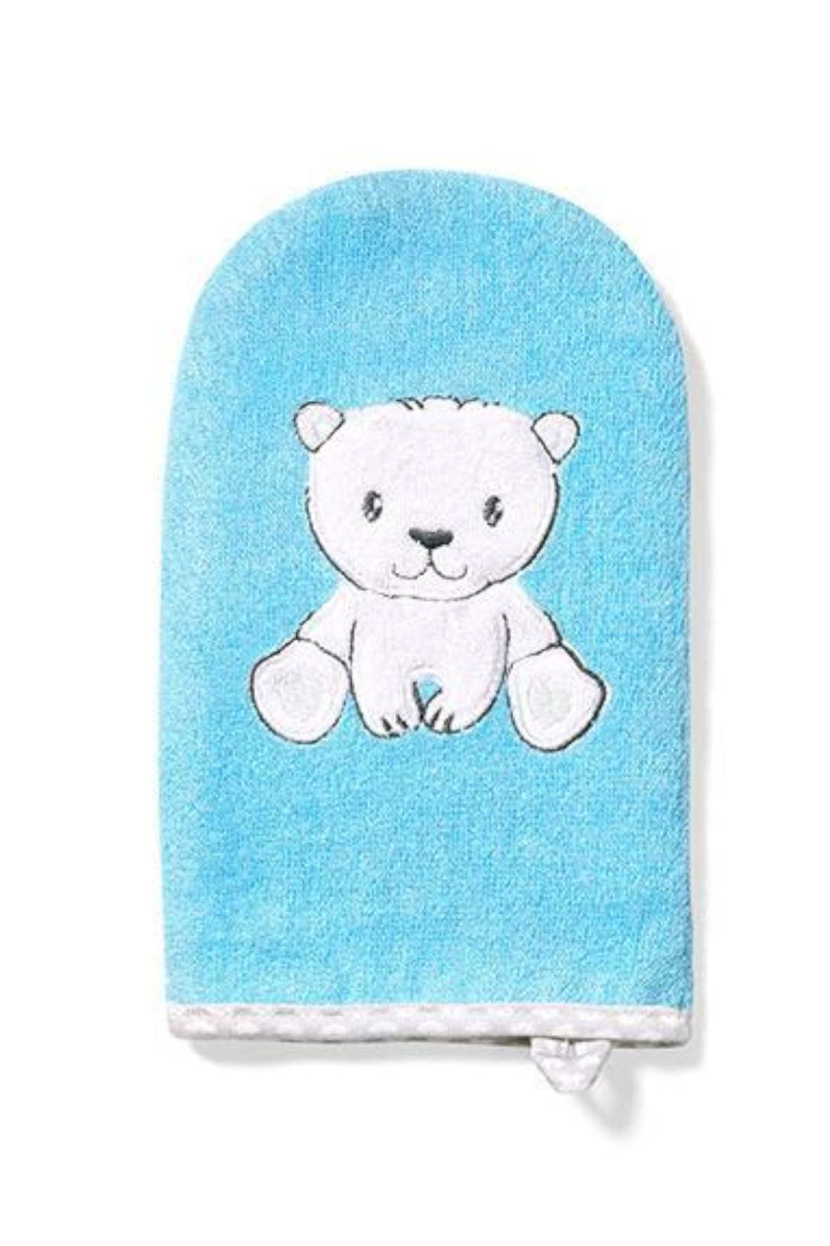Myjka do kąpieli bambusowa dla dzieci i niemowląt- niebieska z misiem
