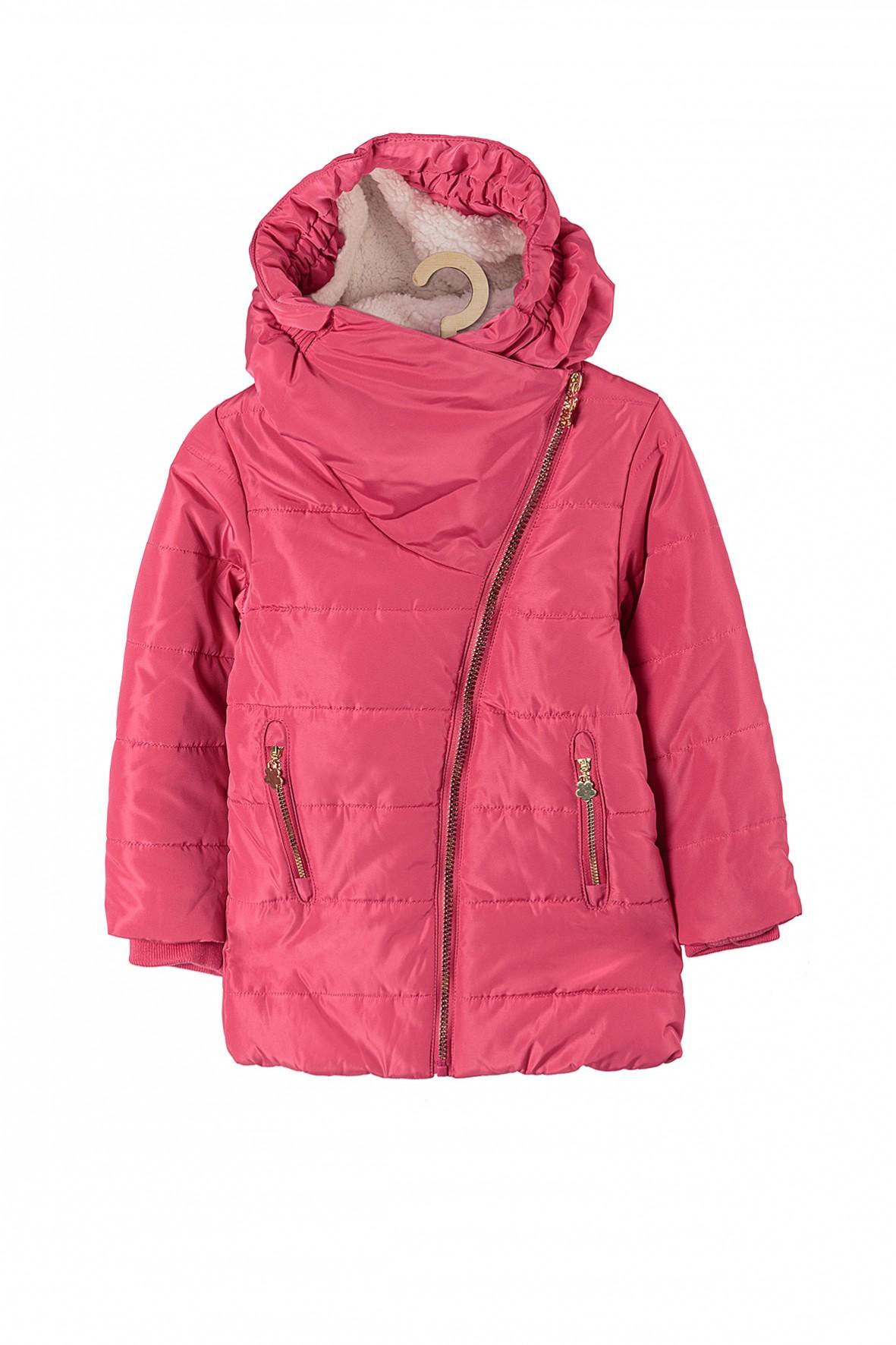 Kurtka zimowa dla dziewczynki- różowa