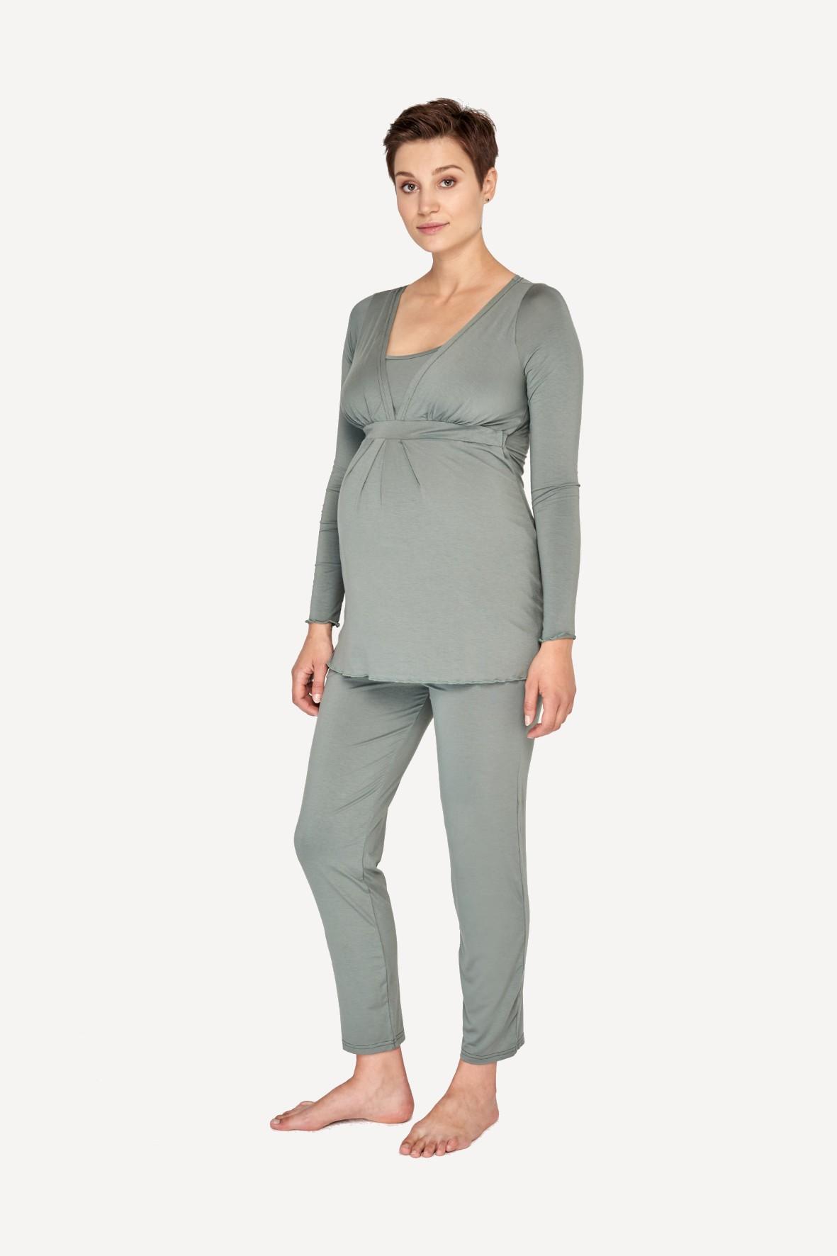 Piżama ciążowa i do karmienia - khaki