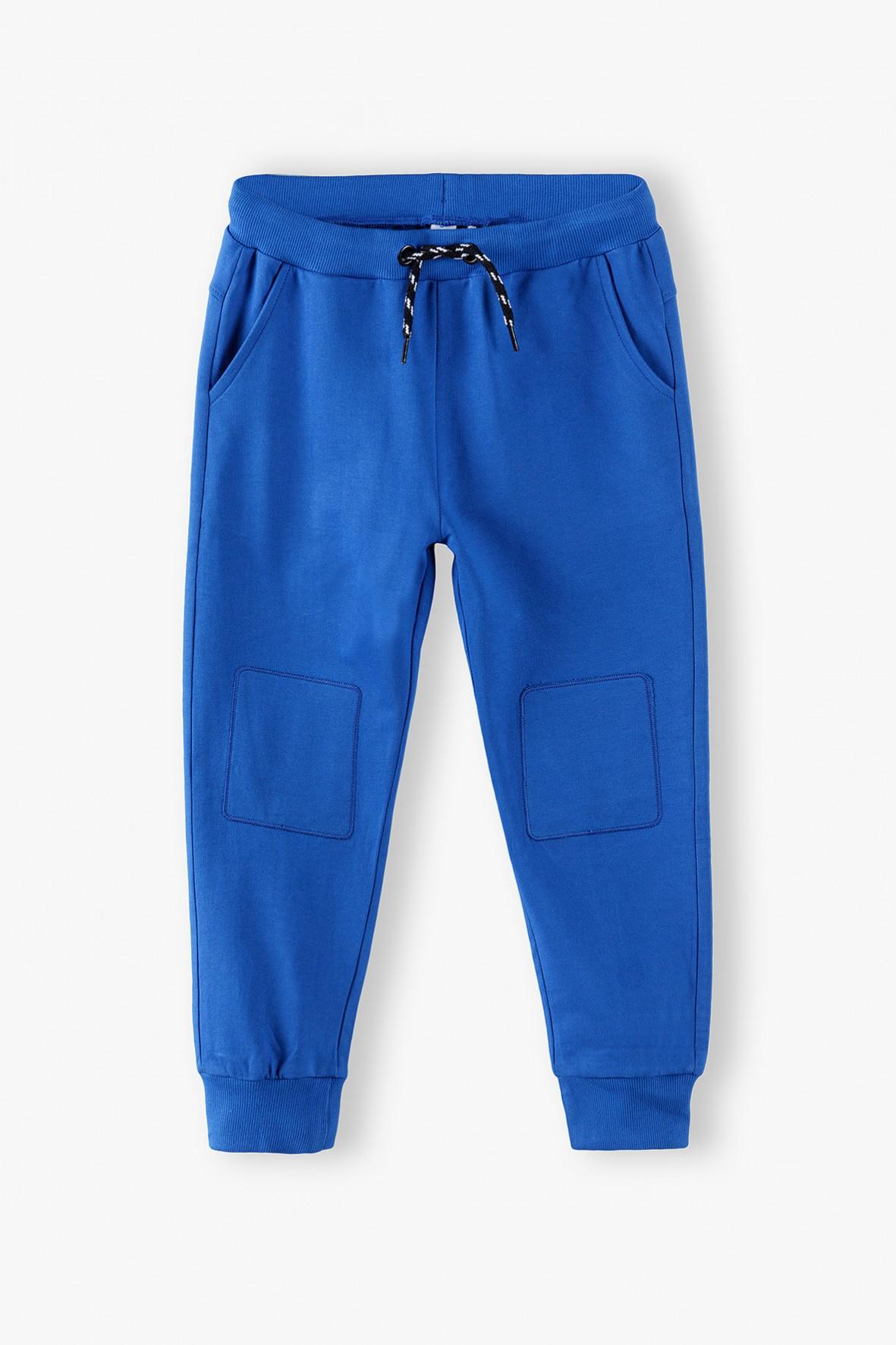 Spodnie dresowe dzianinowe z kieszeniami