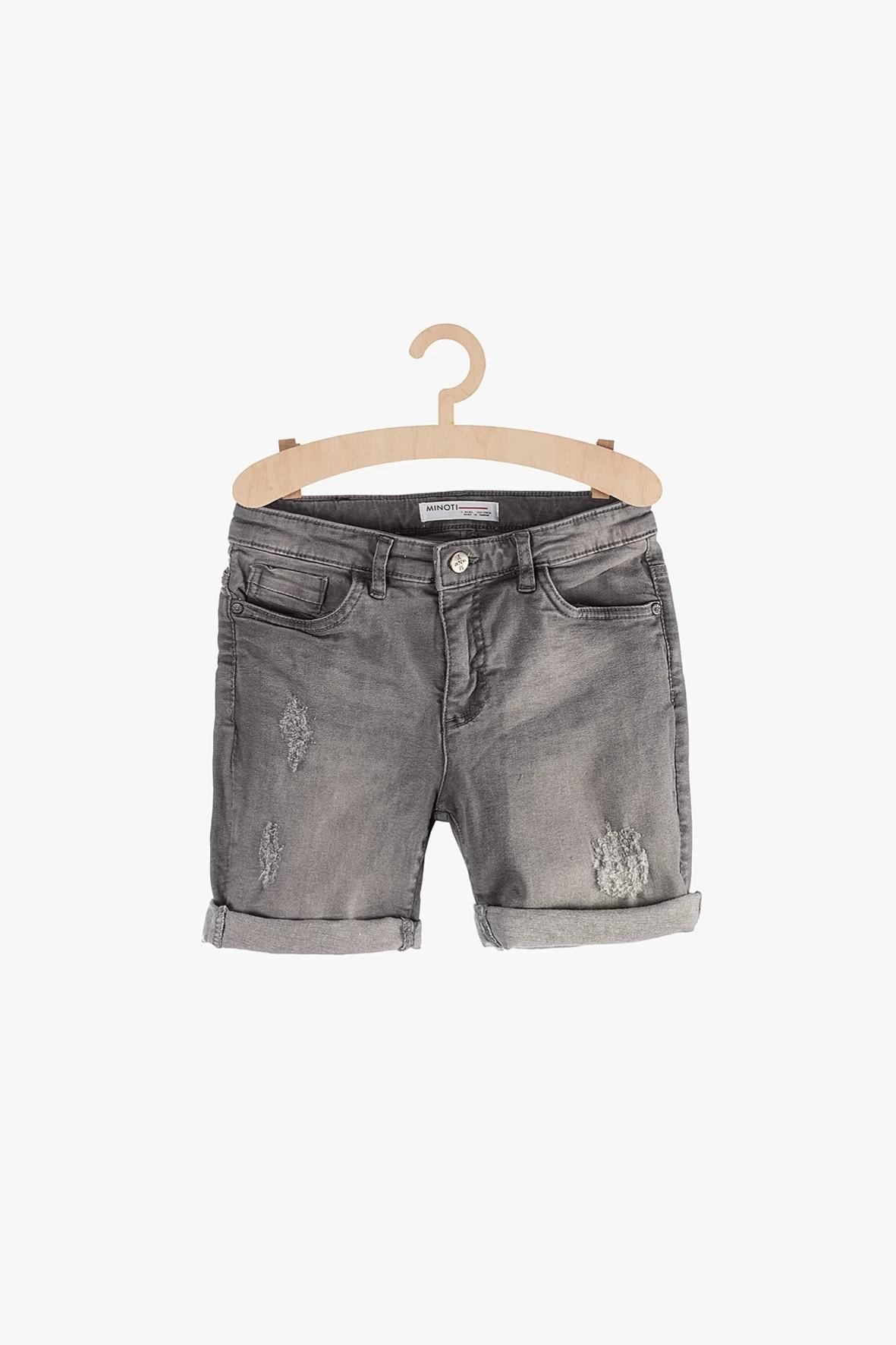 Szorty dla chłopca - szare jeansowe