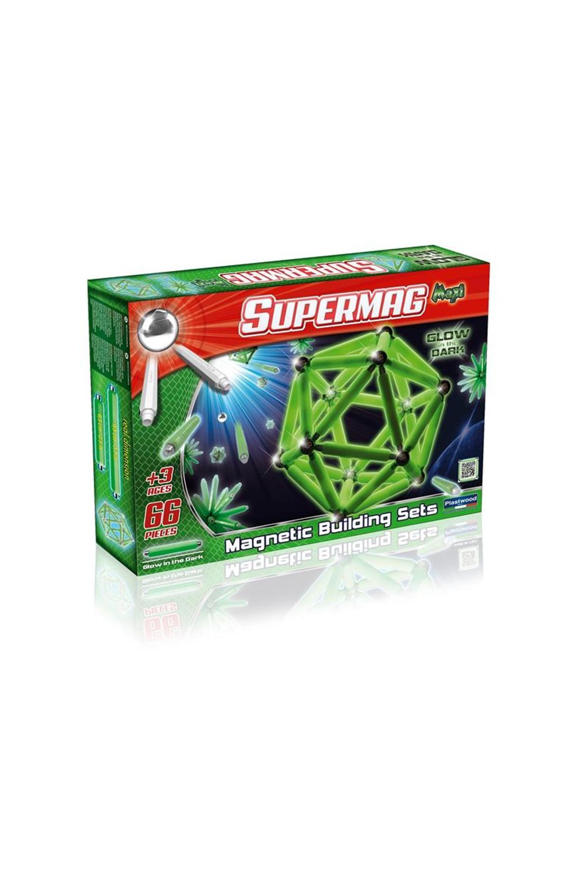 Klocki Supermag Maxi Glow 66 el