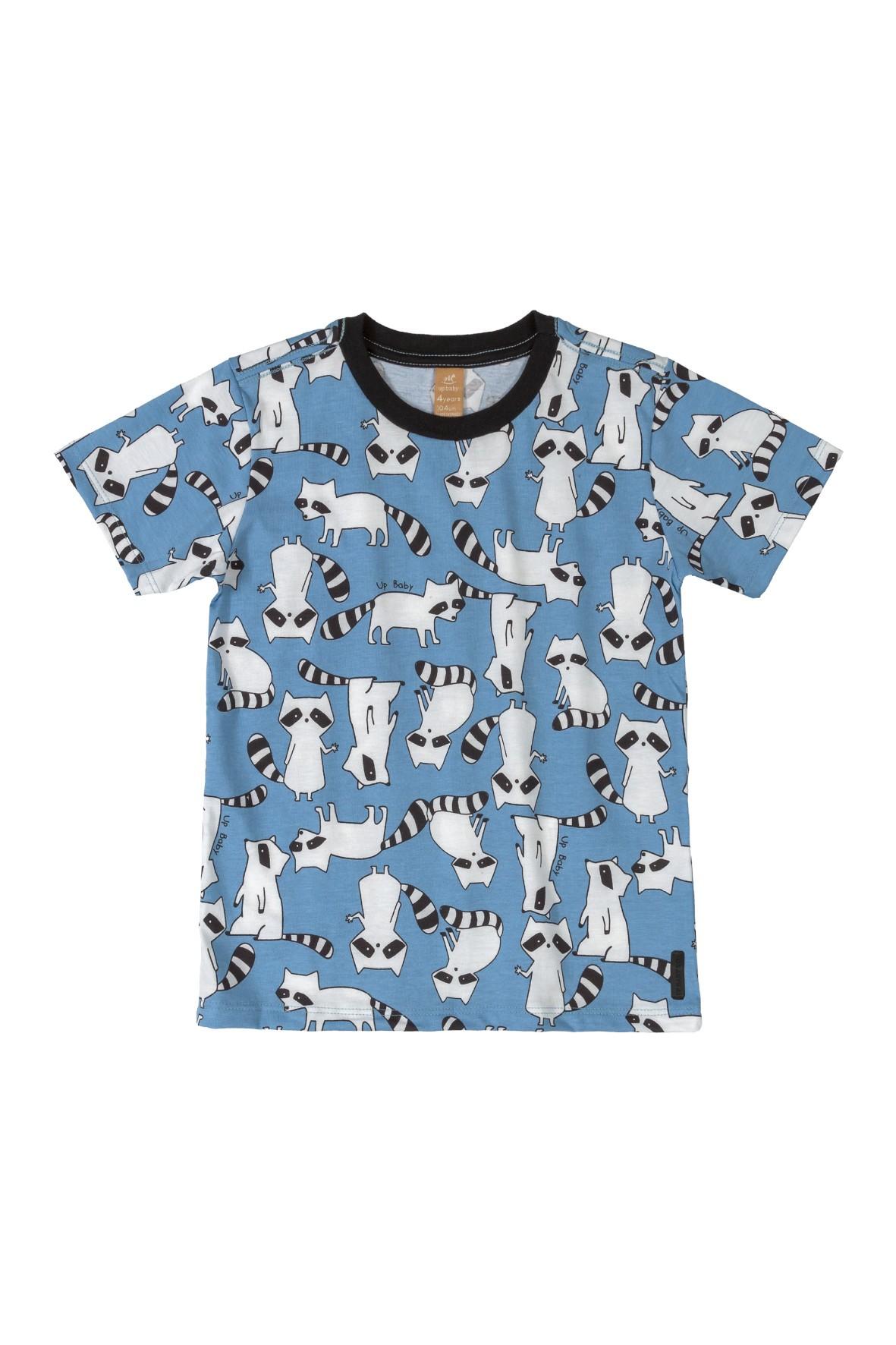 Koszulka niemowlęca w szopy - niebieska