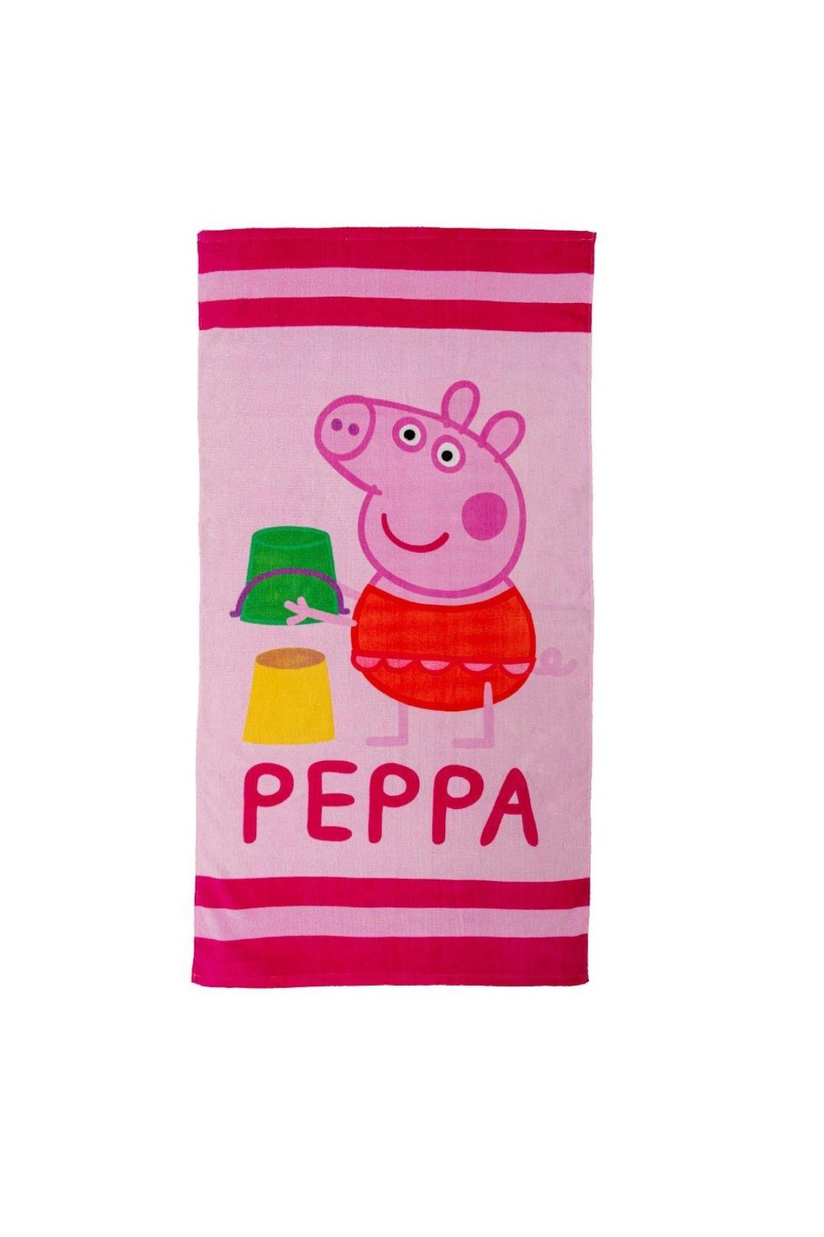 Ręcznik bawełniany - różowy Świnka Peppa