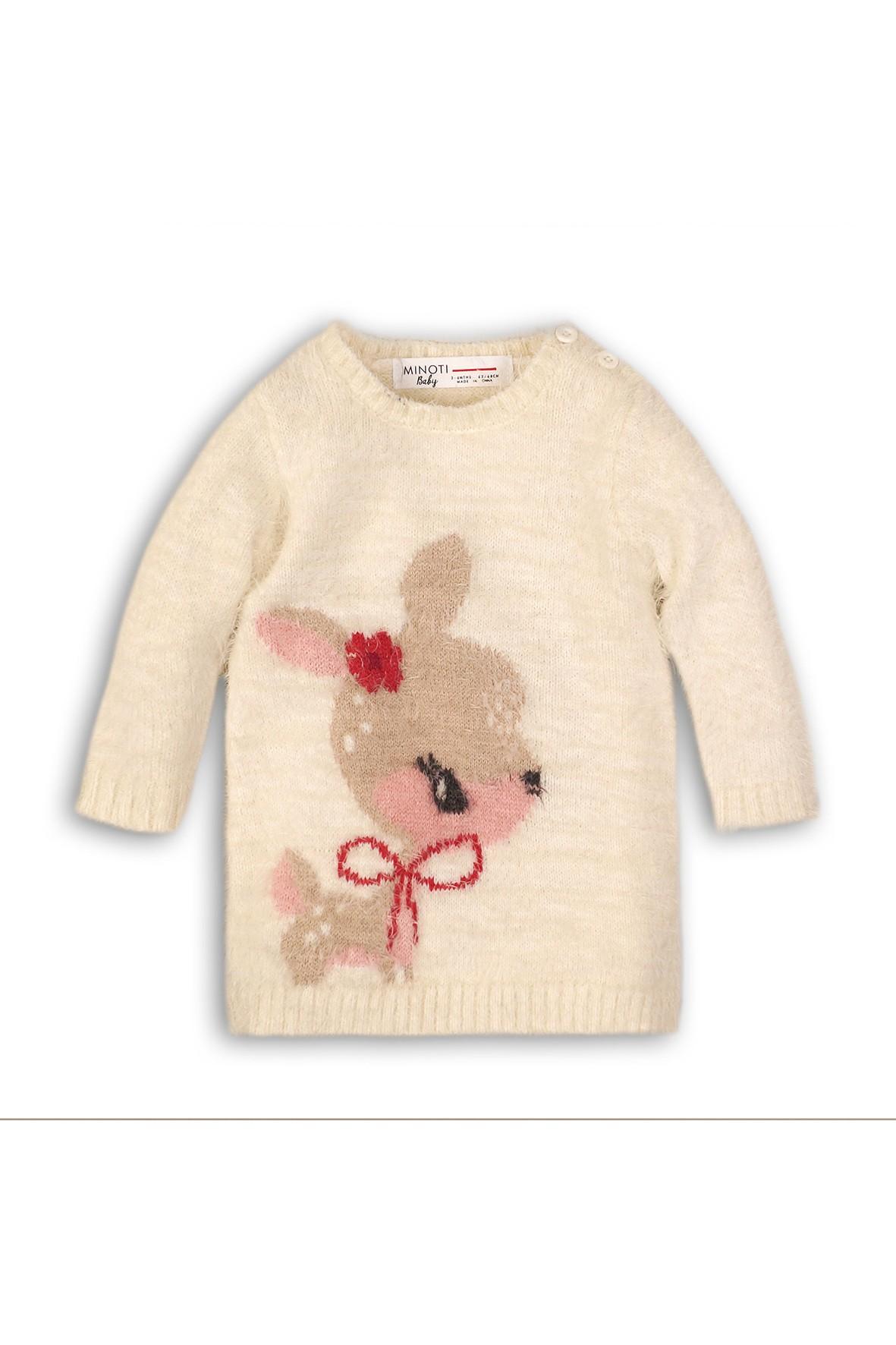 Swetrowa tunika dla dziewczynki- sarenka