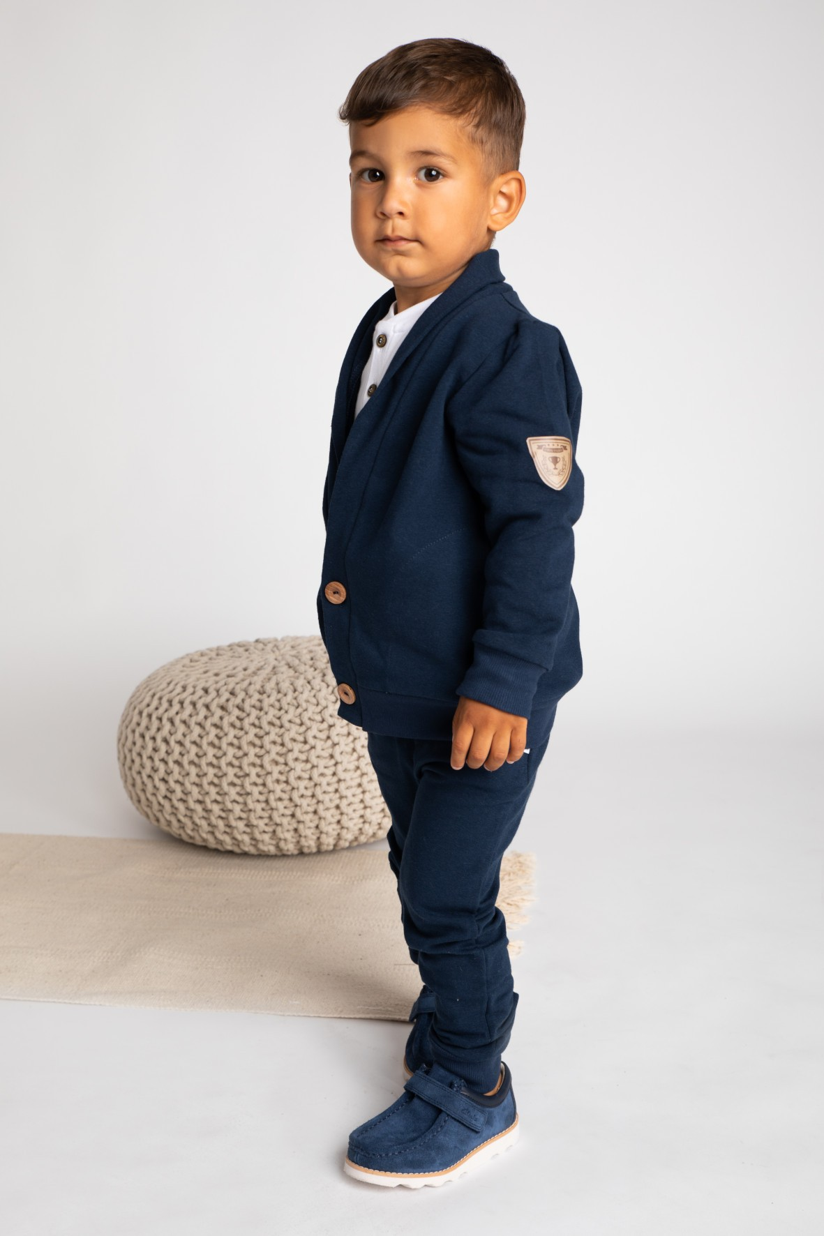 Bluza dresowa chłopięca-granatowa