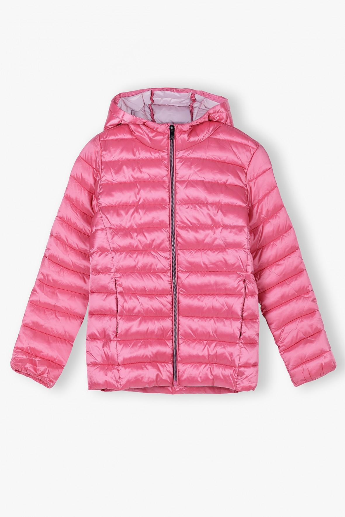 Kurtka dziewczęca różowa- pikowana