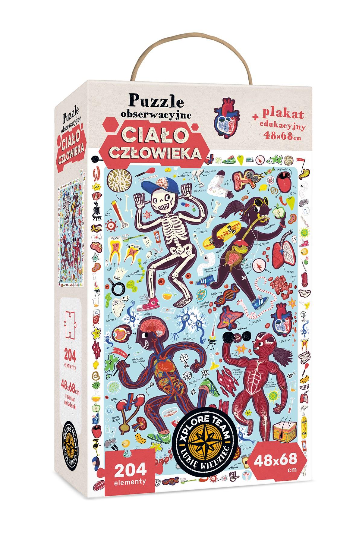 """Puzzle Obserwacyjne  CzuCzu """"Ciało człowieka"""" 204el"""