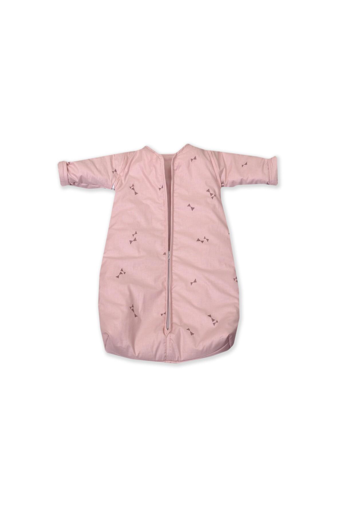 Śpiworek z rękawkami Amy różowy 74cm