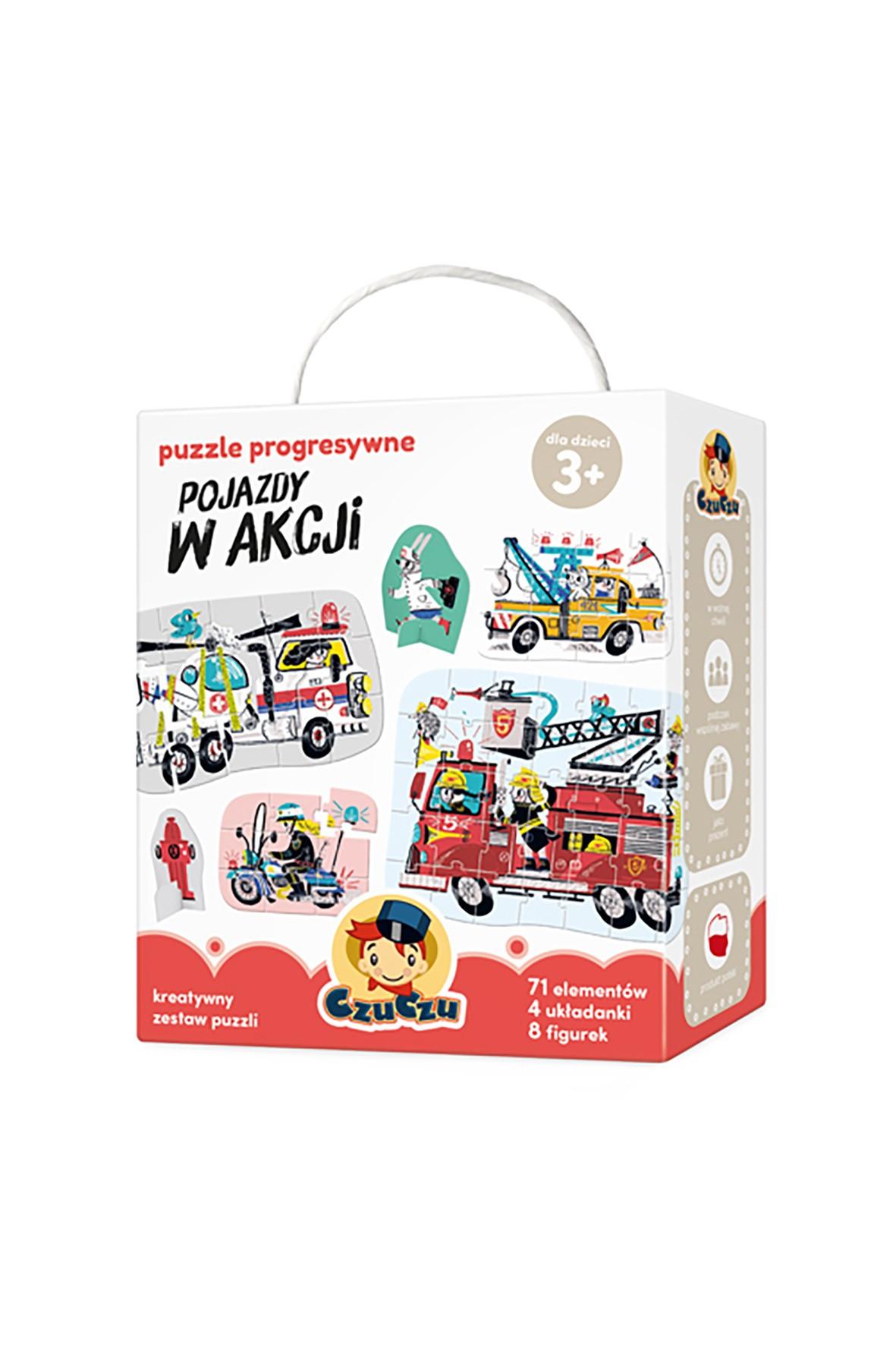 Pojazdy w akcji - puzzle progresywne CzuCzu 3+