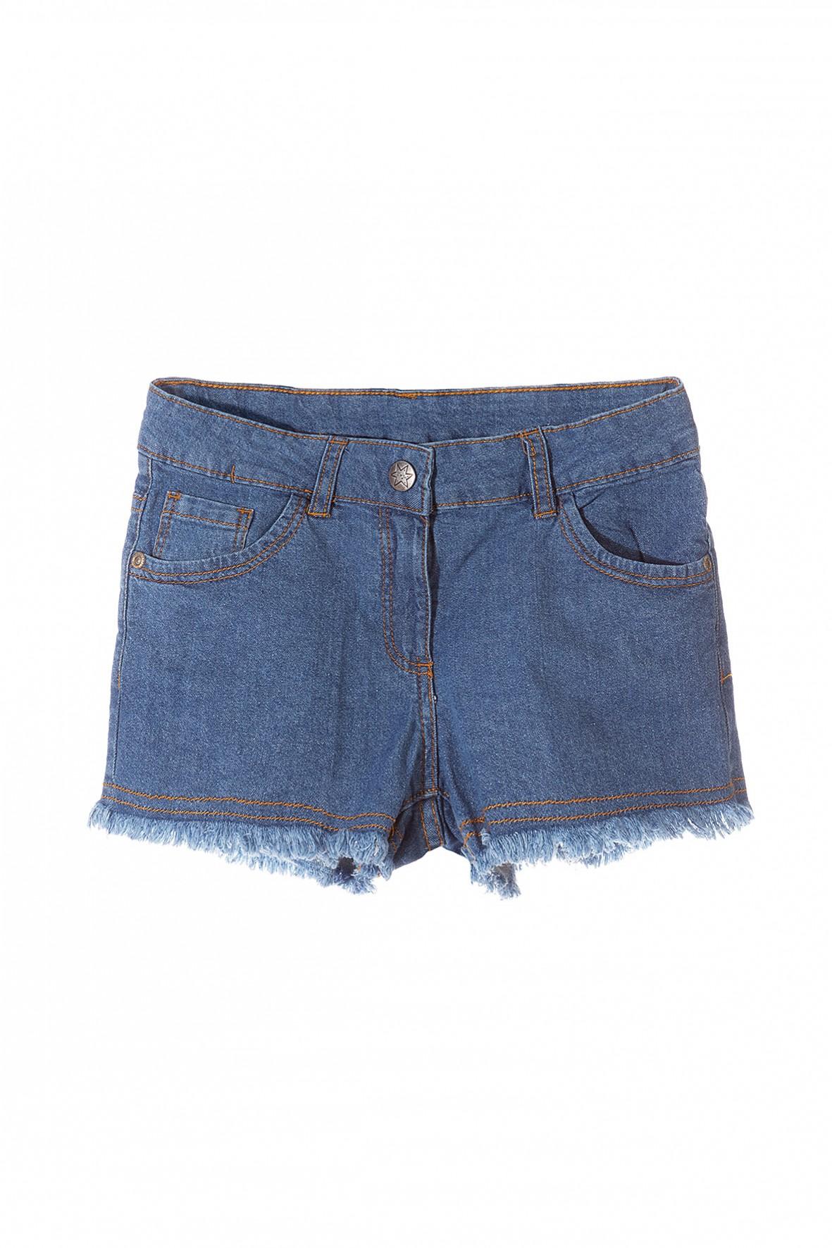 Jeansowe szorty dla dziewczynki- niebieskie