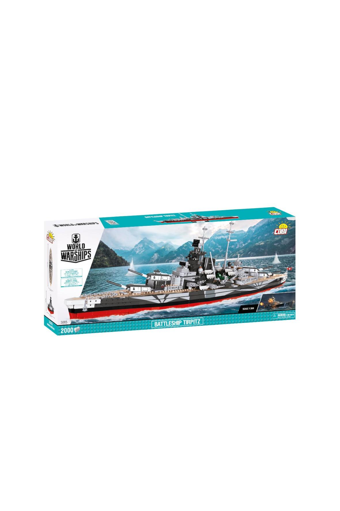Klocki COBI Wows Battleship Tirpitz 2000el