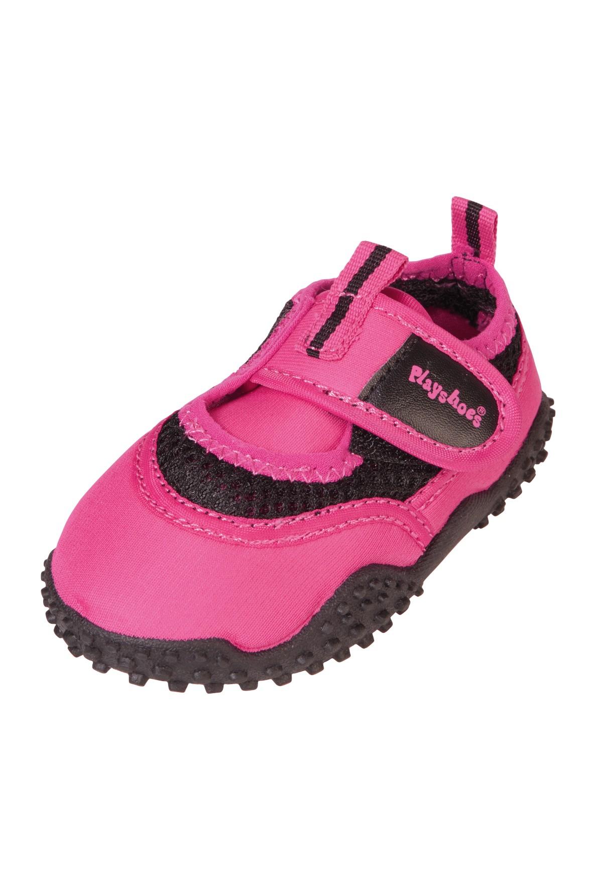 Buty kąpielowe różowe na rzep