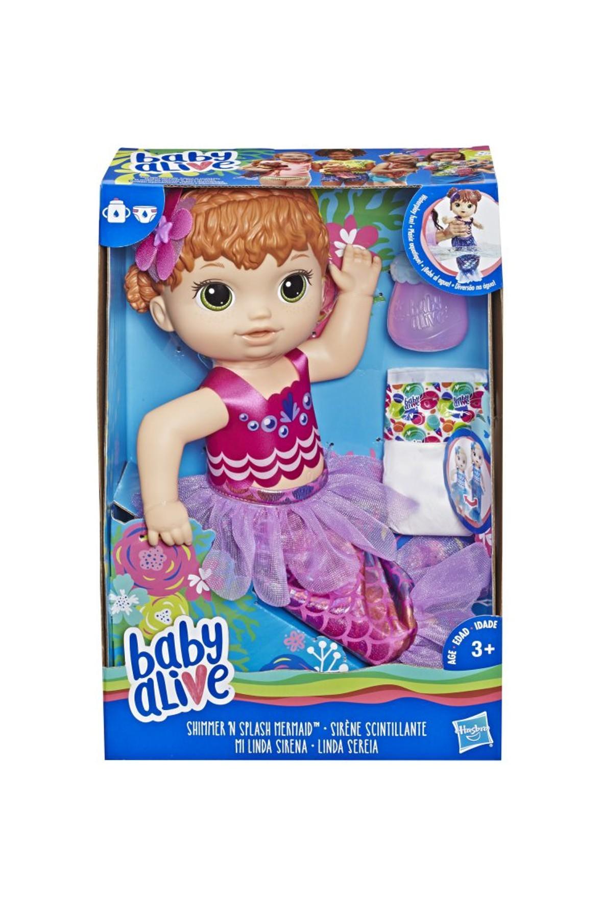 Baby Alive Lala Migocząca Syrenka - Ruda 3+