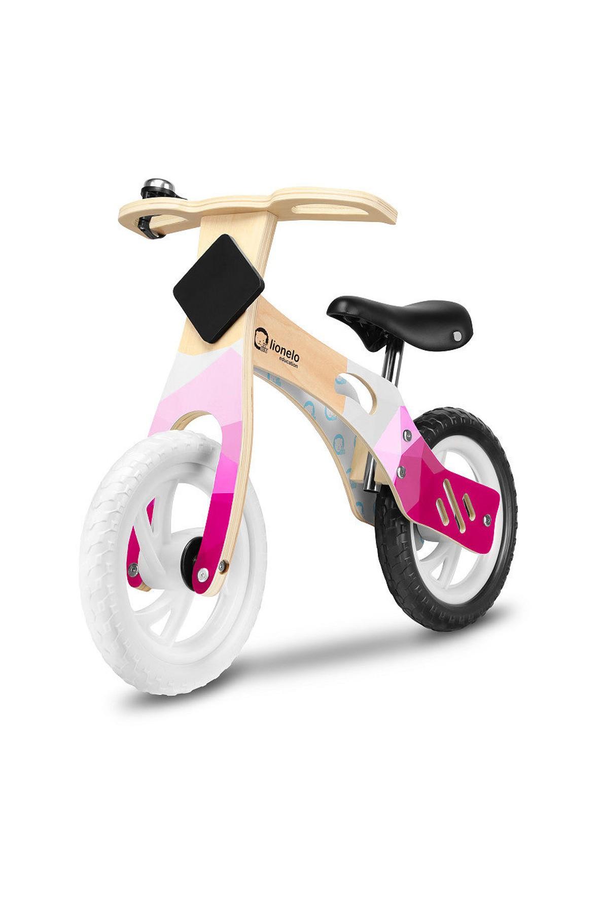 Rowerek biegowy Lionelo Education Willy Bubblegum- różowy