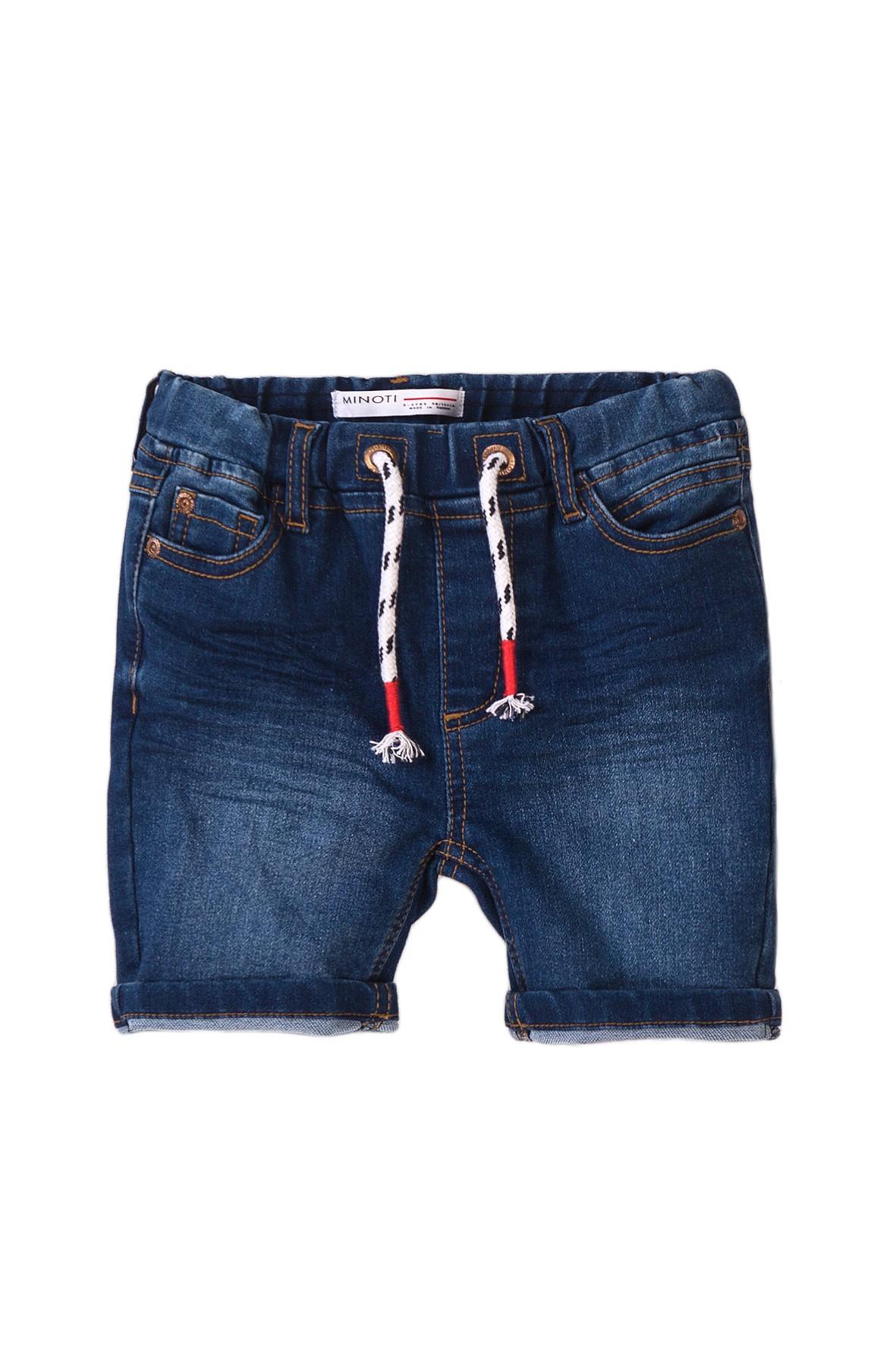 Granatowe szorty niemowlęce jeans