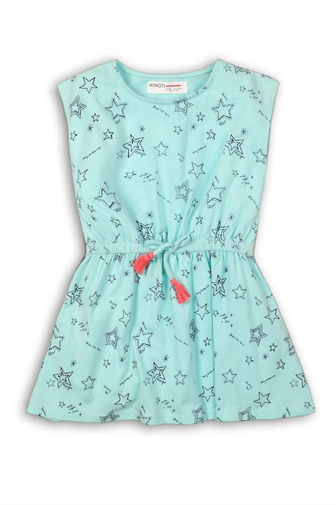 92993506d9 Sukienka dziewczęca na lato- bawełniana w gwiazdki ...