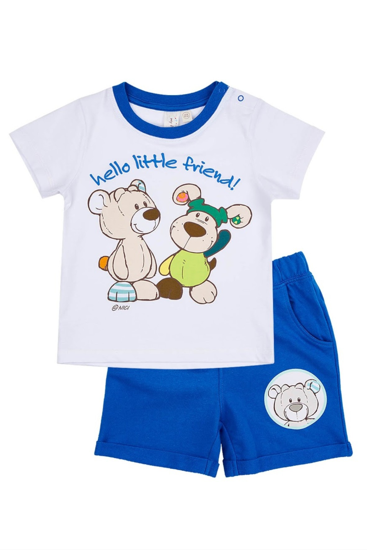 Komplet dla niemowlaka t-shirt i spodenki