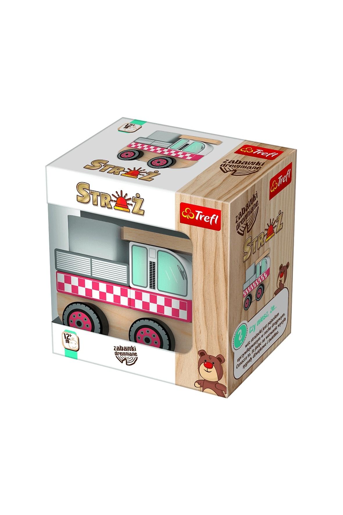 Zabawka drewniana - Wóz strażacki Trefl