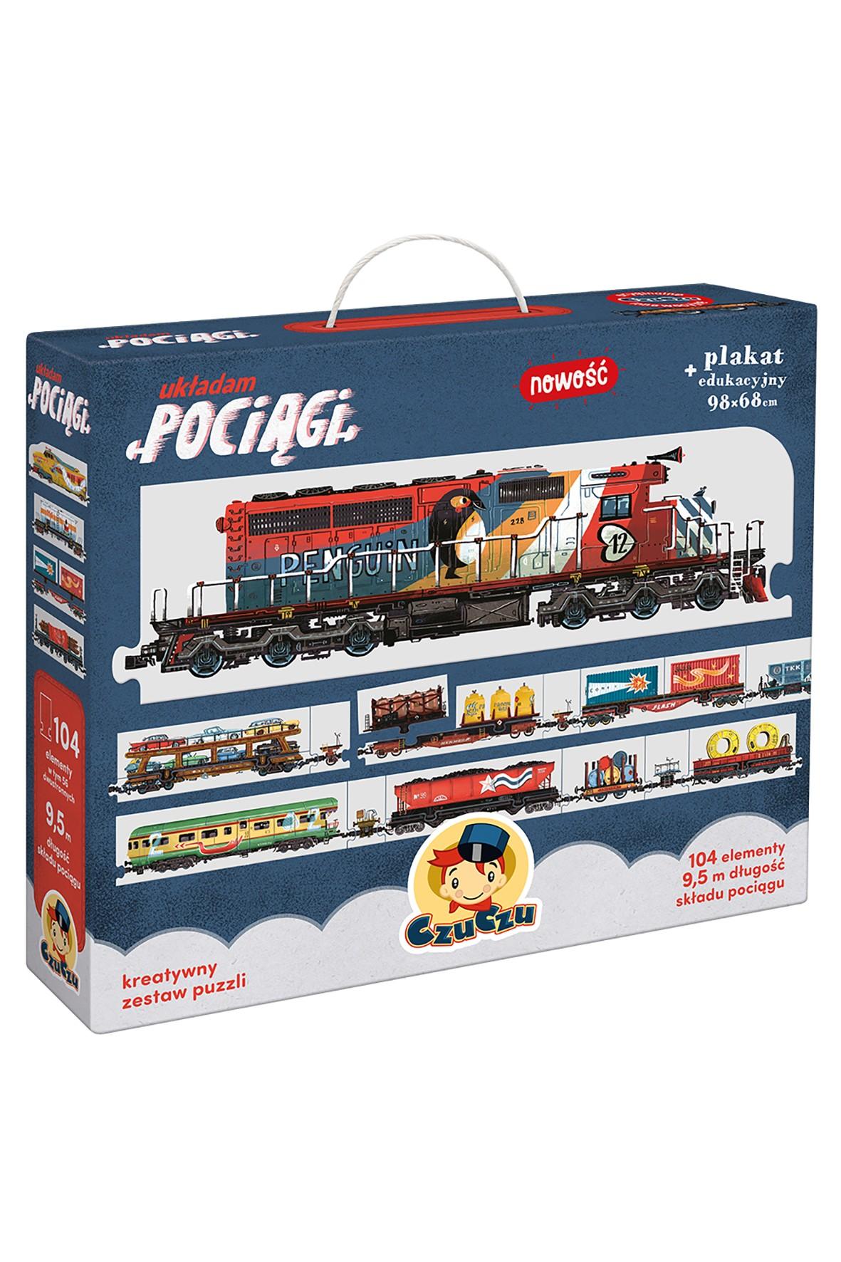 "Puzzle  CzuCzu ""Układam pociągi"" 104el 5+"