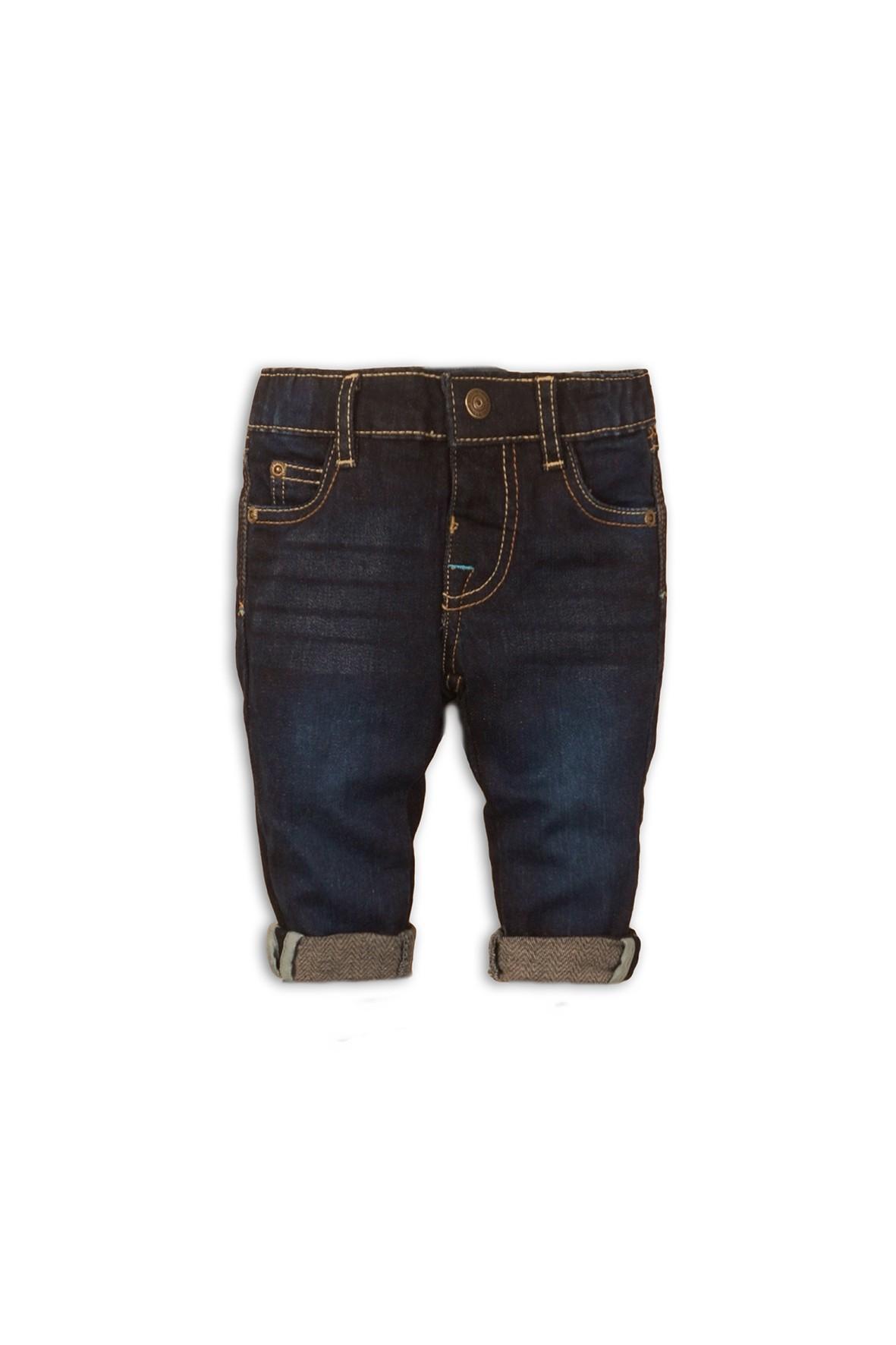 Granatowe jeansy dla chłopca