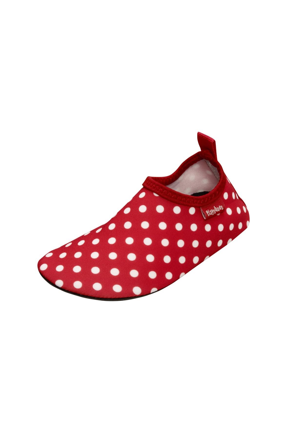 Buty kąpielowe- czerwone i białe kropki