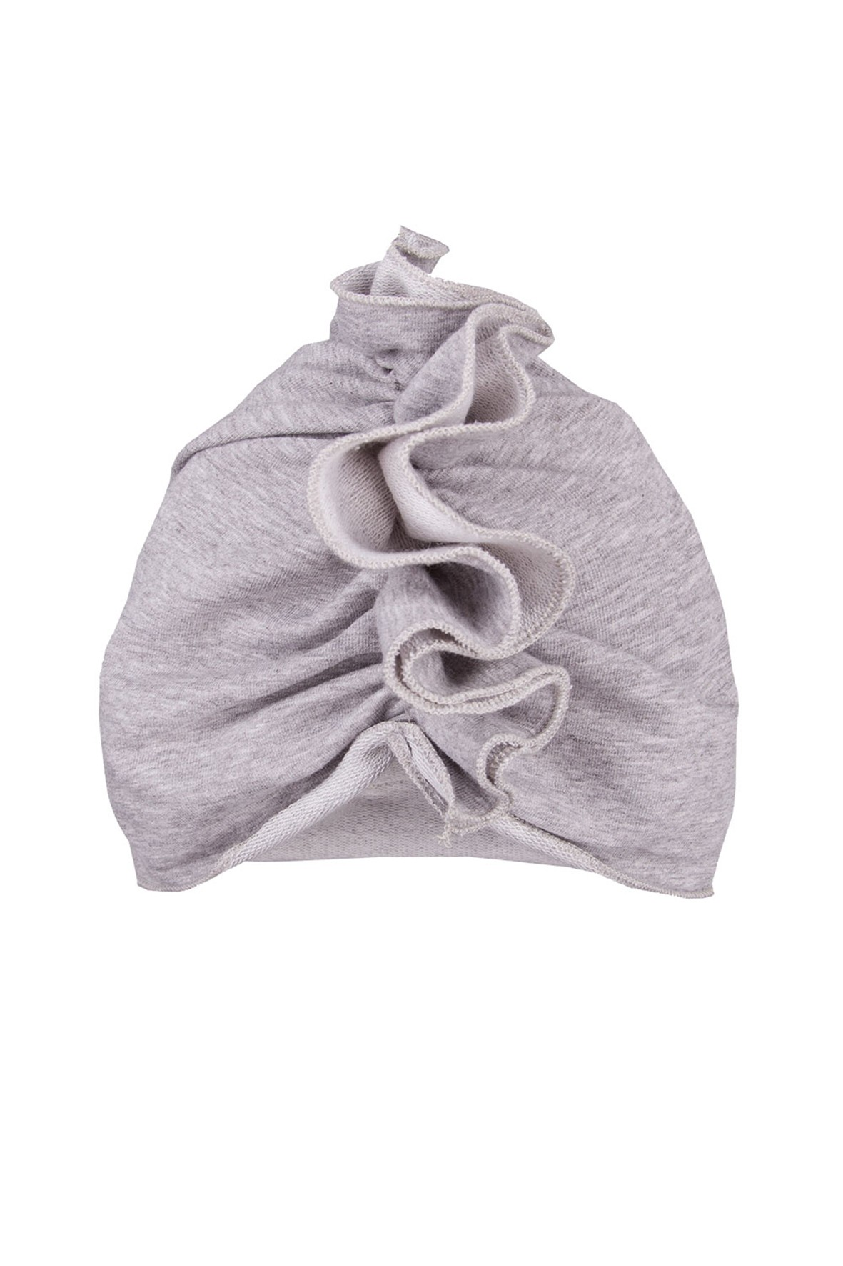 Bawełniany turban - szara czapka dla dziewczynki