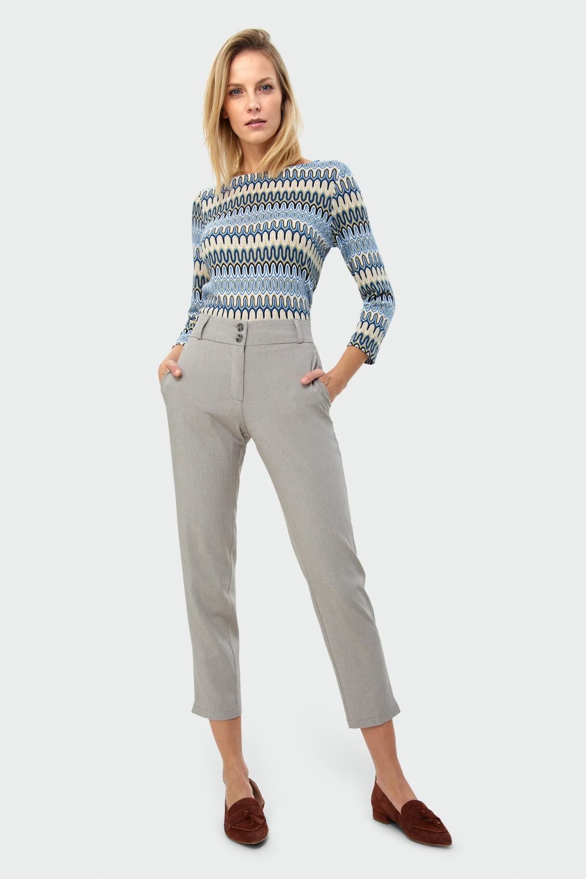 Beżowe eleganckie spodnie damskie