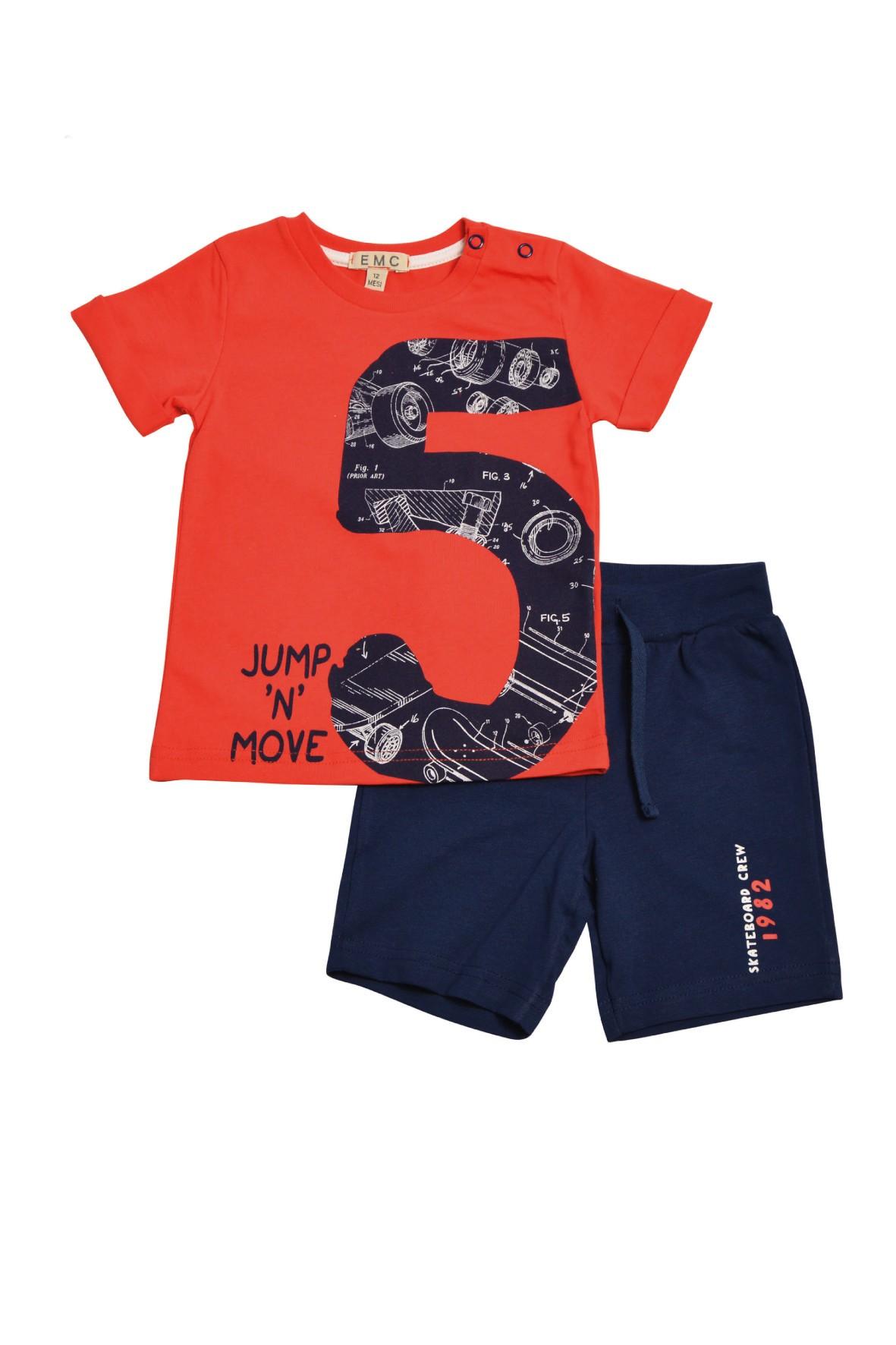 Zestaw ubrań dla chłopca szorty i koszulka