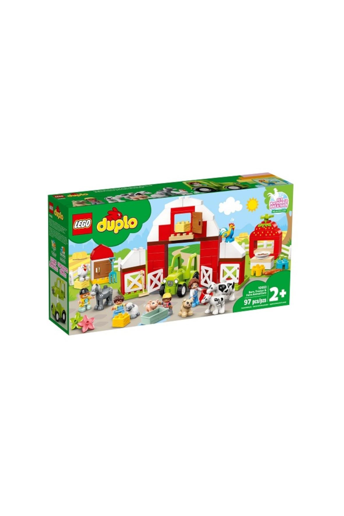 Lego Duplo - Stodoła, traktor i zwierzęta gospodarskie - 97 elementów