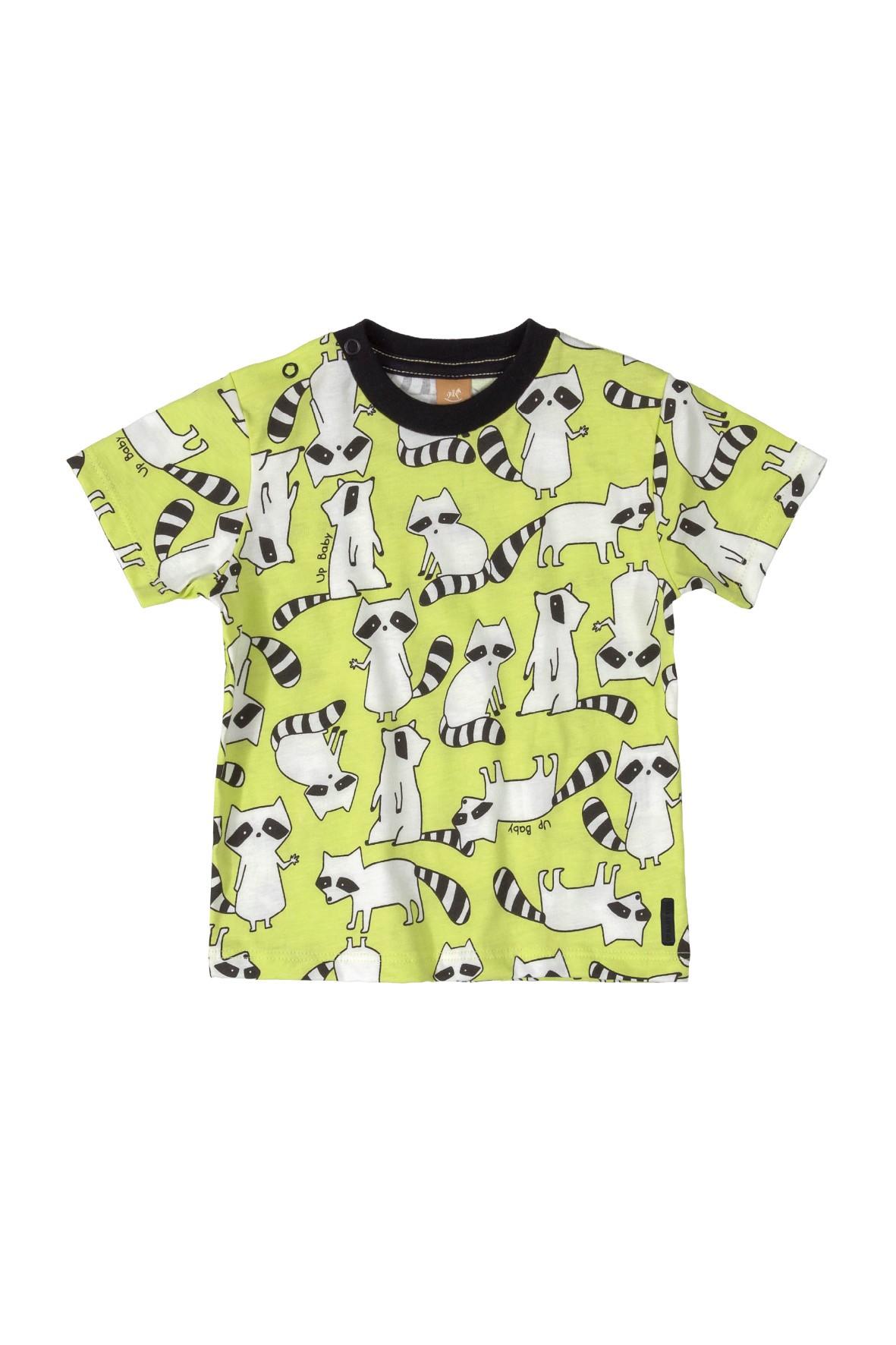 Koszulka niemowlęca w szopy - żółta