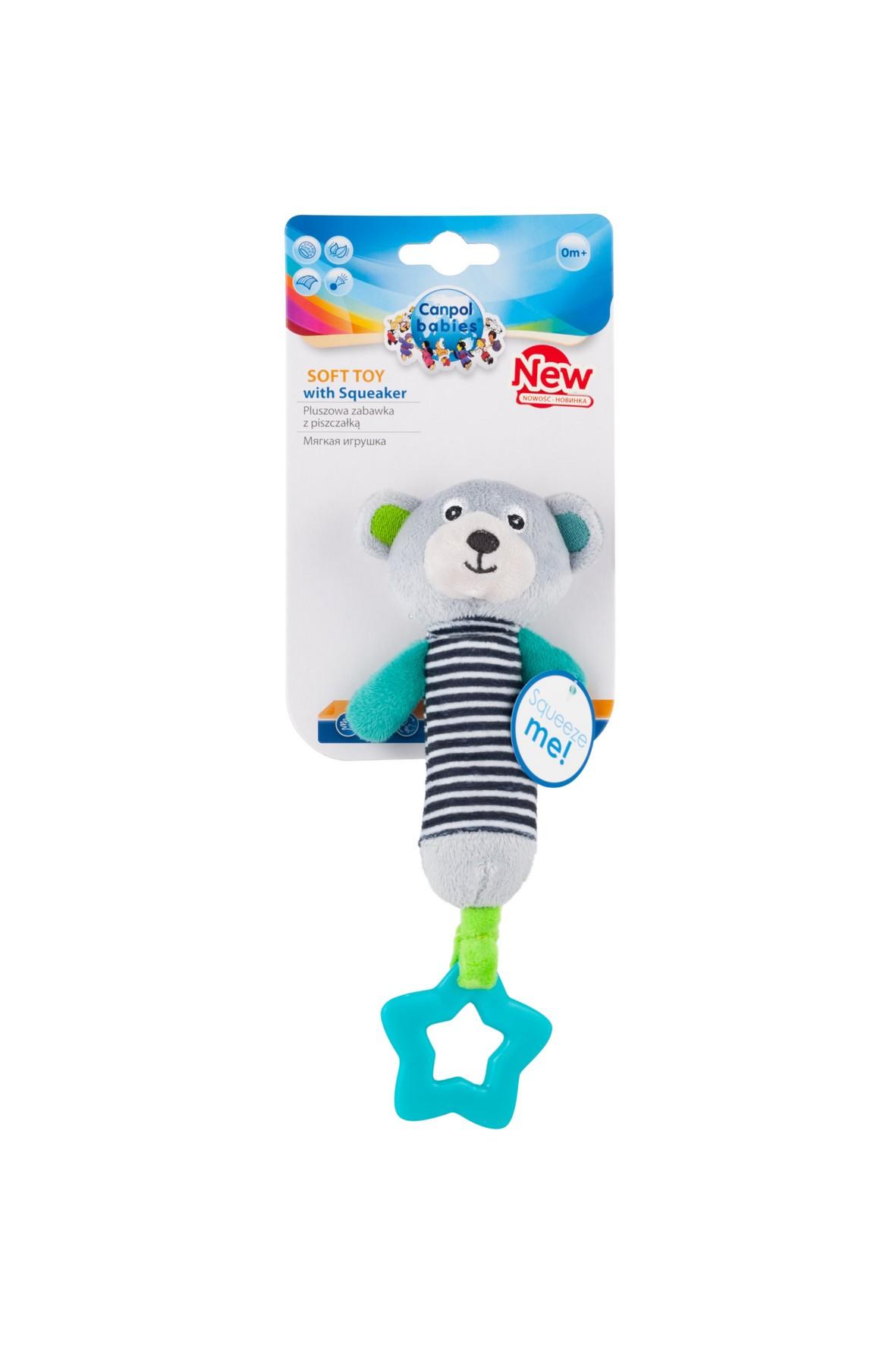 Pluszowa zabawka z piszczkiem i gryzakiem Canpol