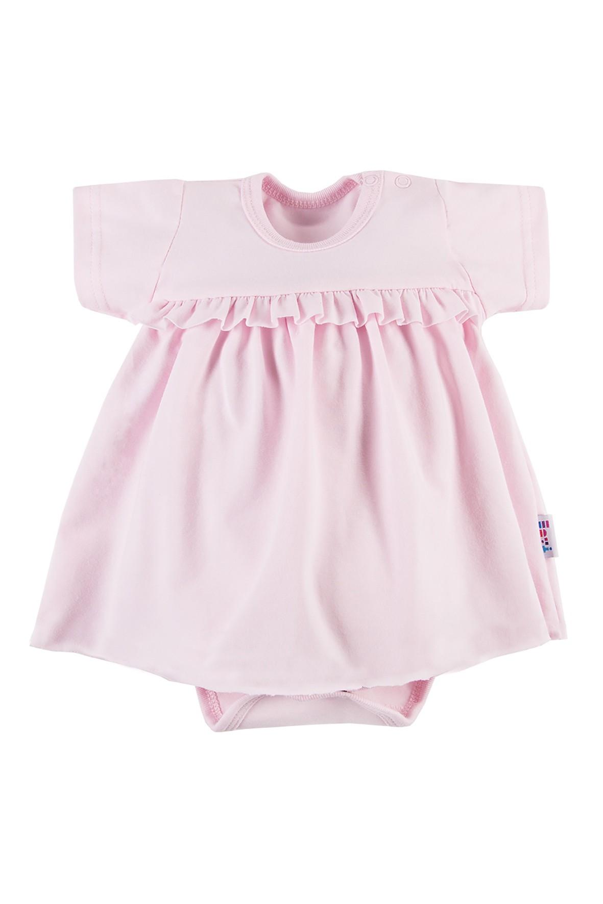Bawełniane body-sukienka NATURE - różowa