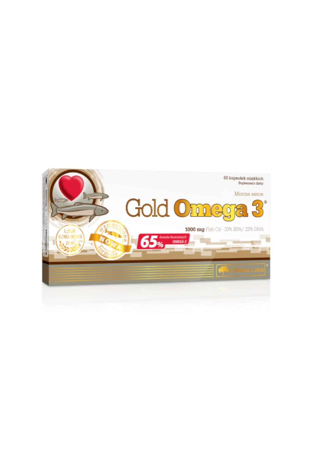 Gold Omega 3 60 kapsułek (65%)/1000 mg  TOP