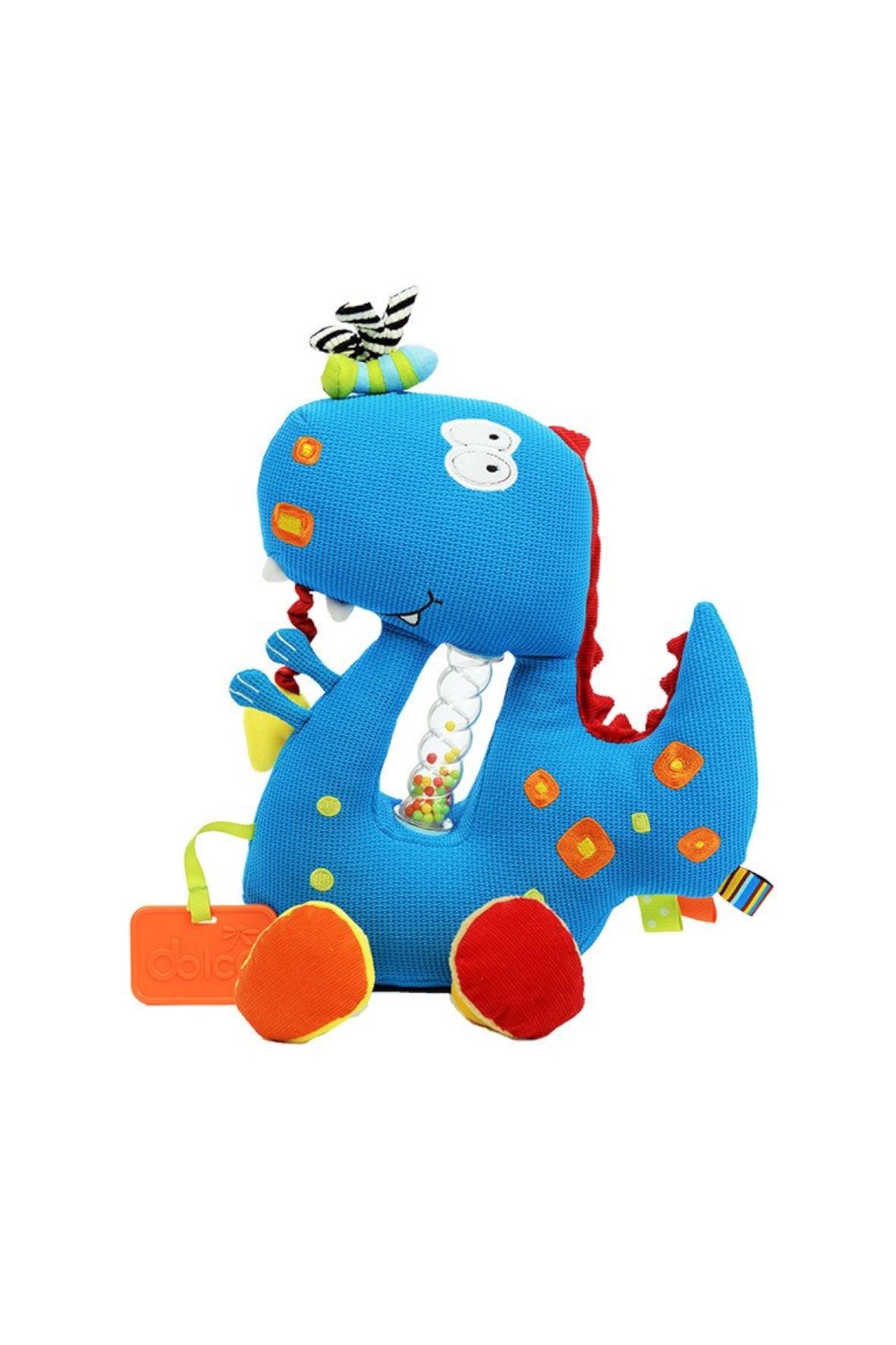 Dinozaur z grzechotką- zabawka sensoryczna Dolce