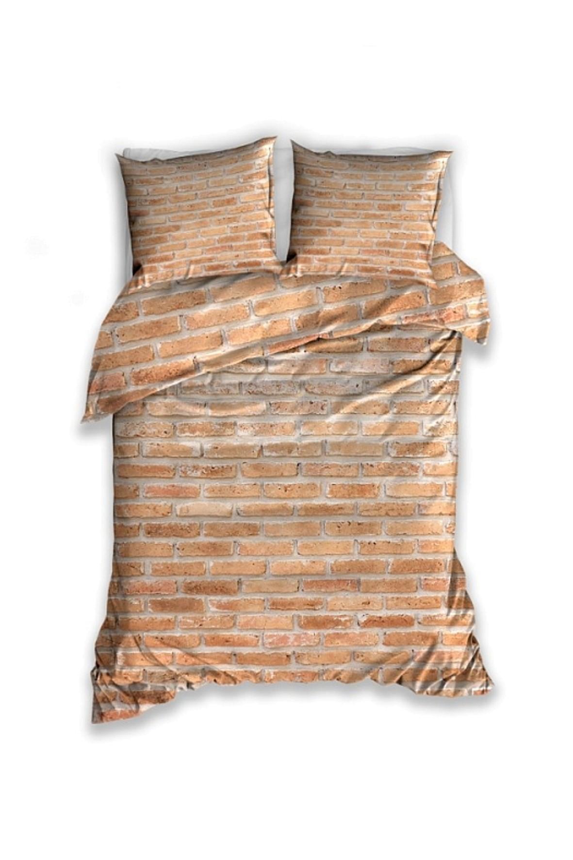 Pościel bawełniana-cegiełka 140x200 + 2x70x80cm