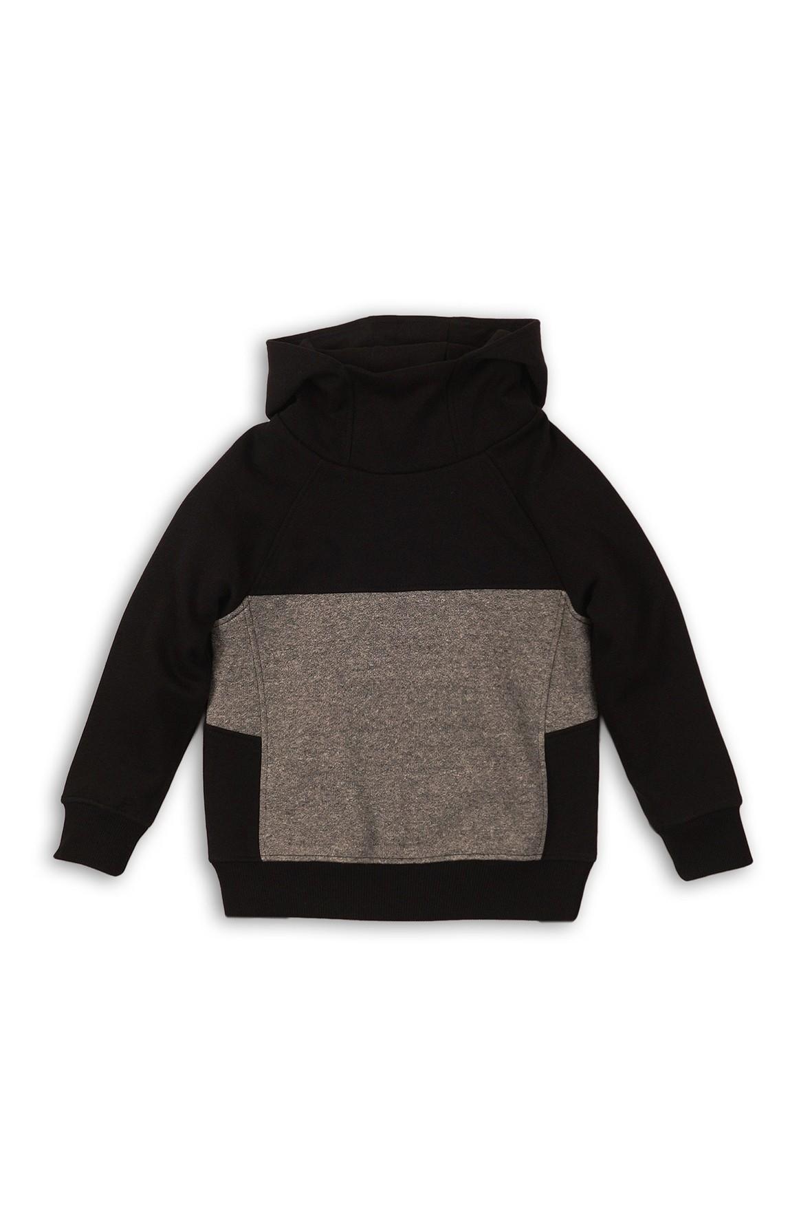 Czarno-szara bluza dresowa dla chłopca