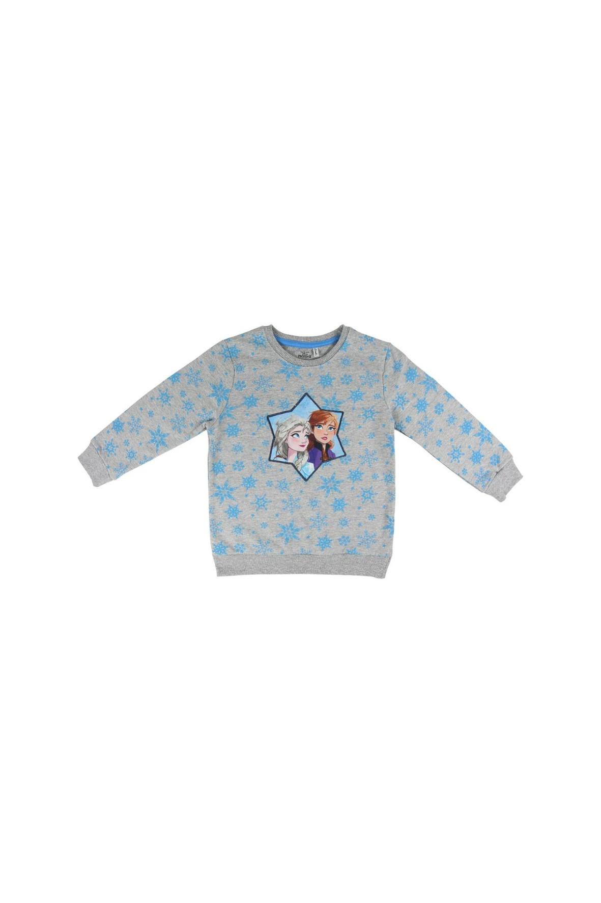Bluza dresowa dziewczęca Frozen 2 - szara w gwiazdki