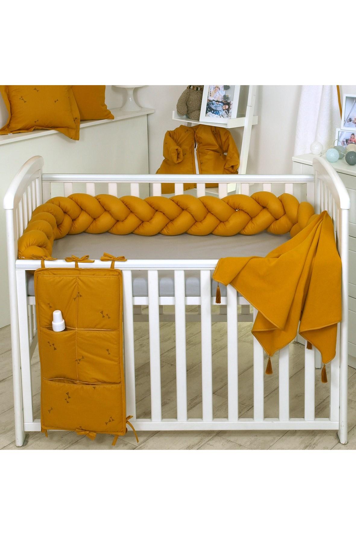 Warkocz- ochraniacz bawełniany do łóżeczka Amy 210cm