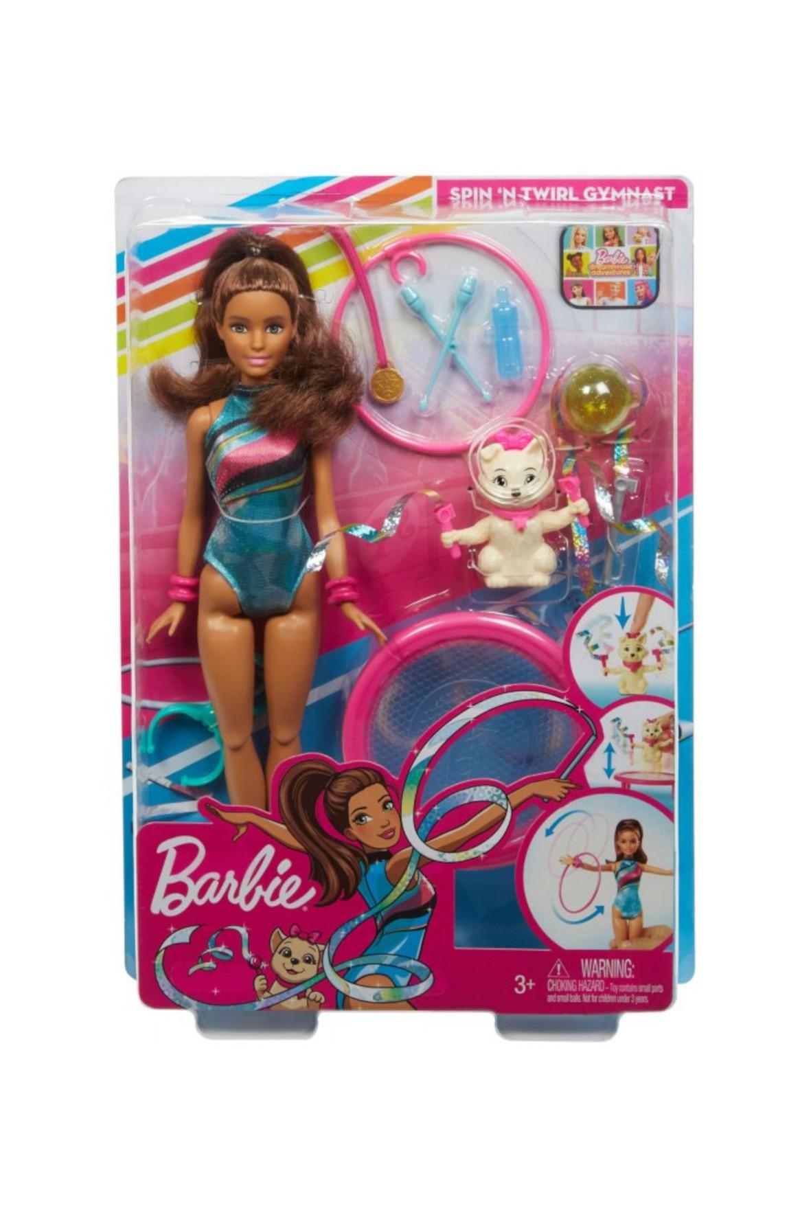 Barbie Dreamhouse Adventures - Zestaw Lalka Teresa gimnastyczka z pieskiem wiek 3+