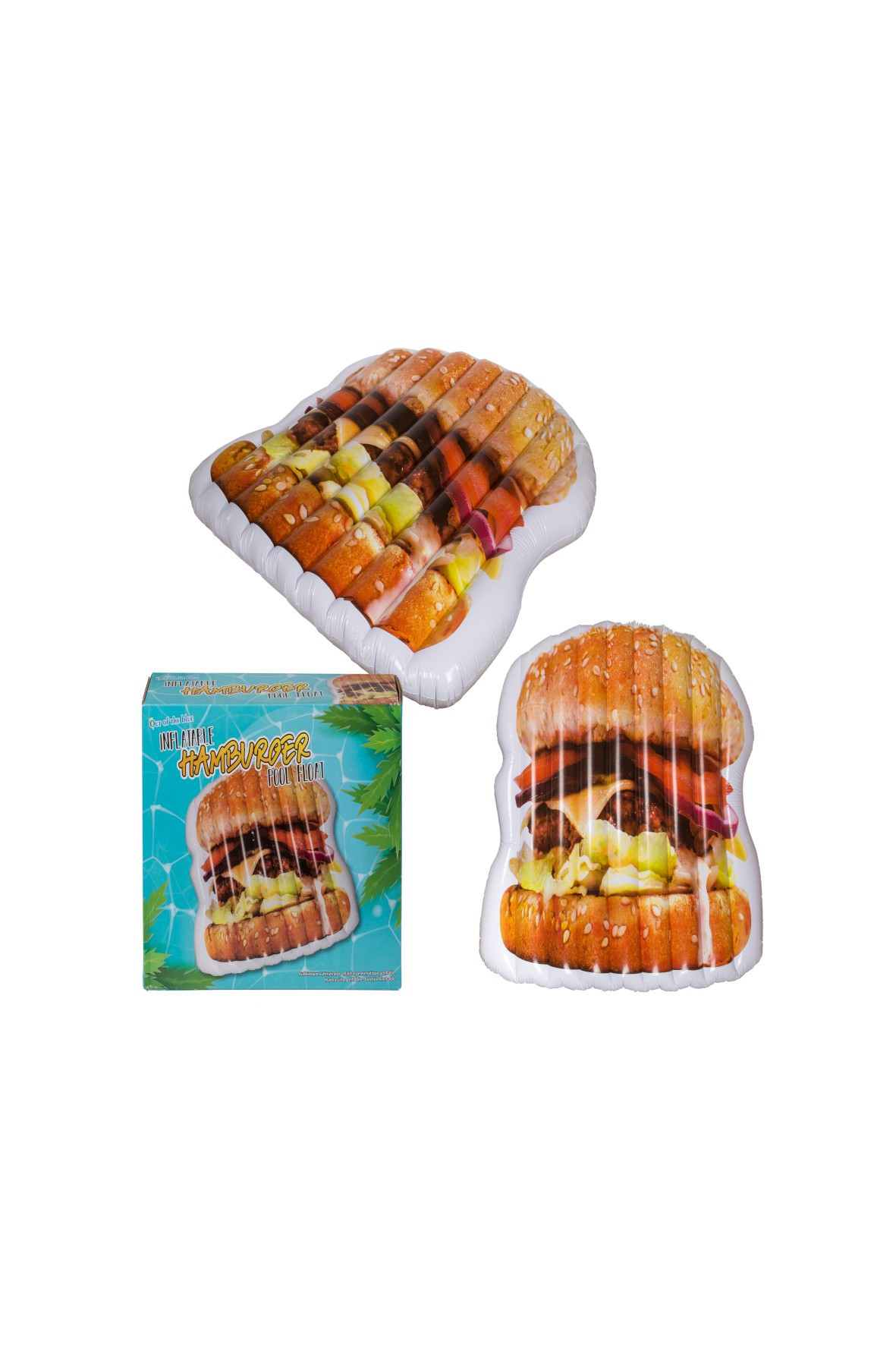 Materac do pływania, pływak basenowy - hamburger - 29x24x9 cm
