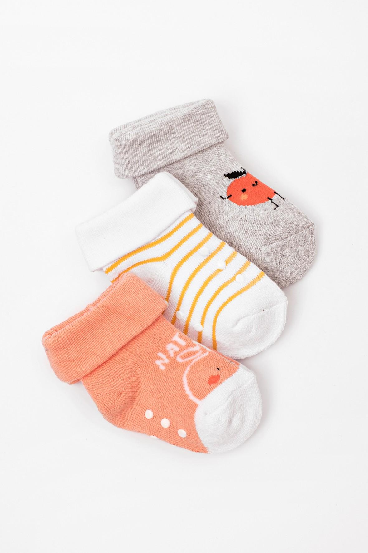 Skarpety niemowlęce z ABSem 3pak
