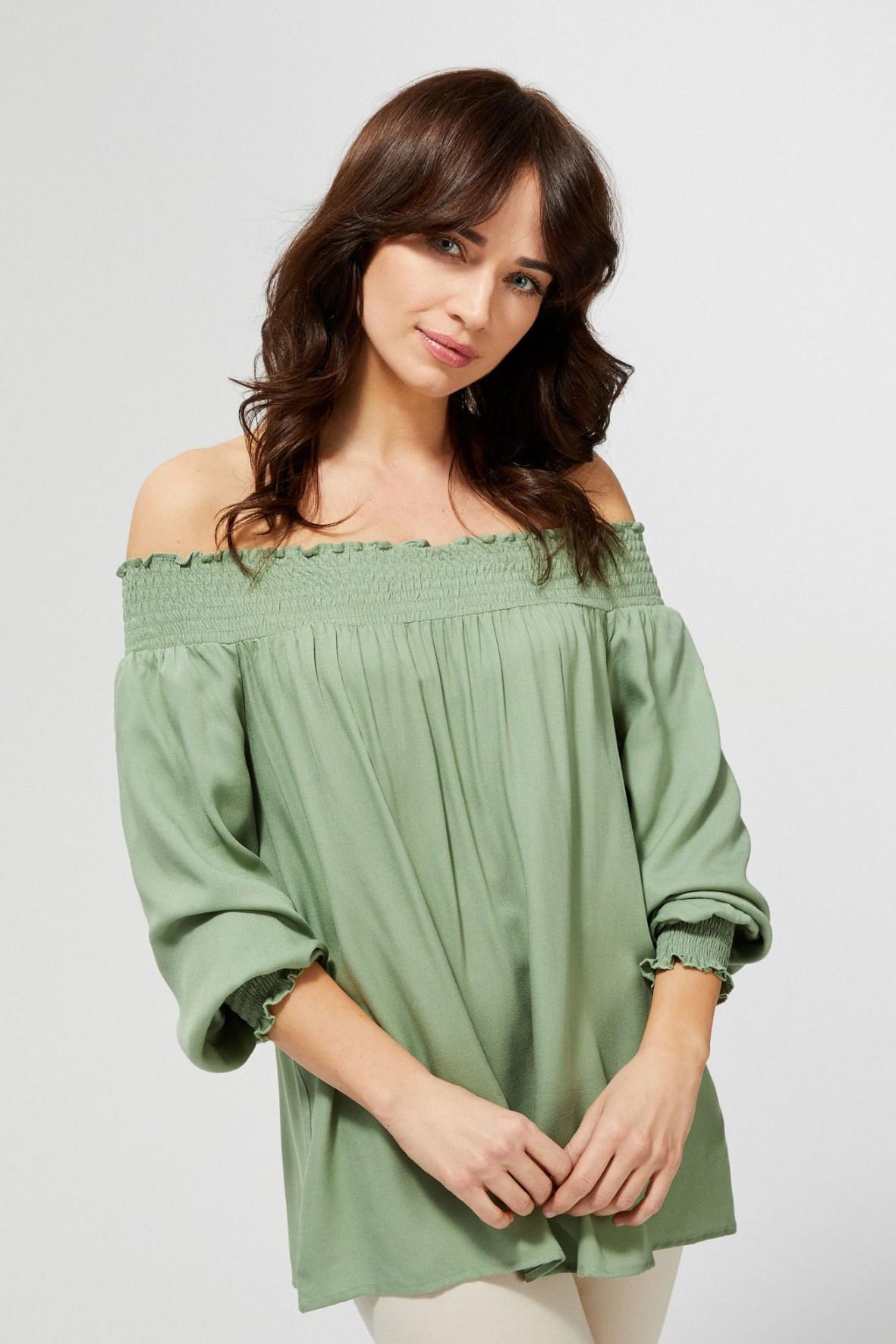 Koszula damska typu hiszpanka kolor oliwkowy