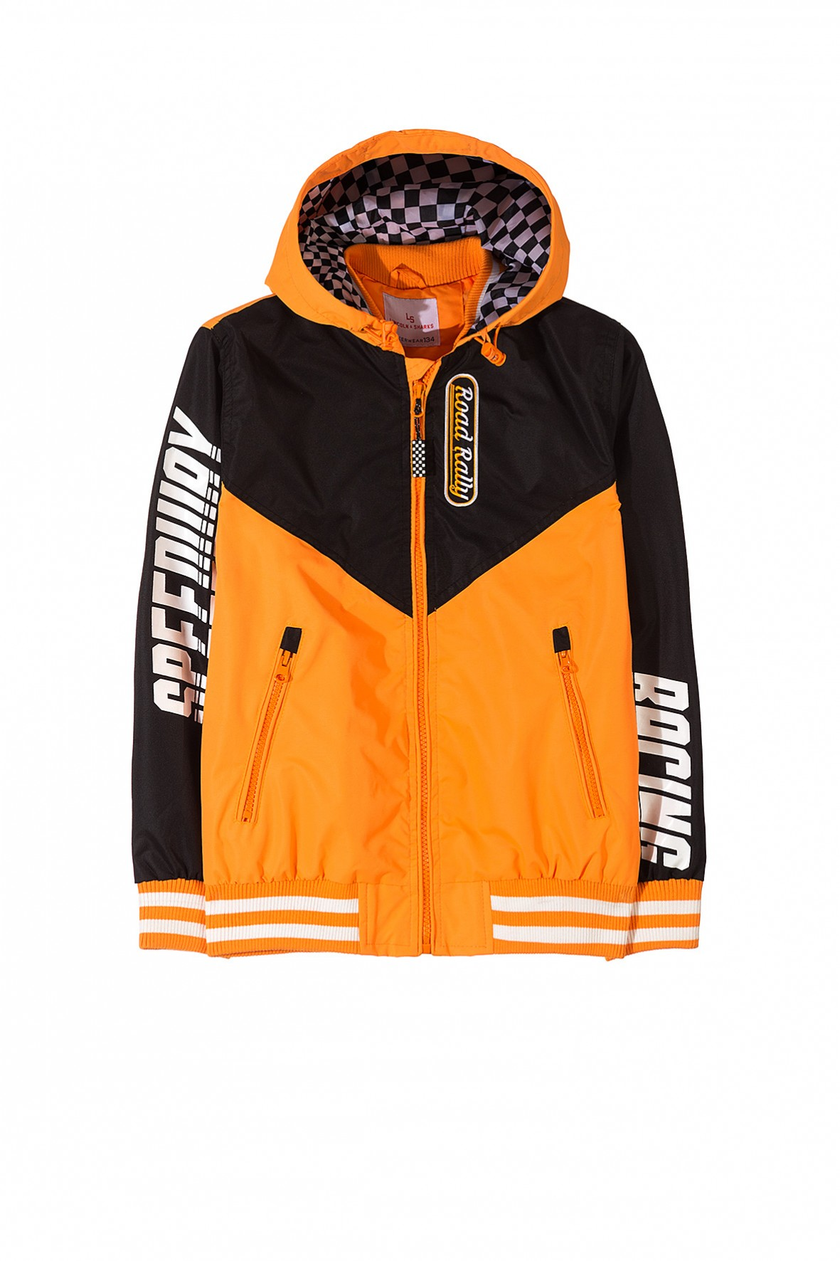 kurtka wiosenna chłopięca pomarańczowa