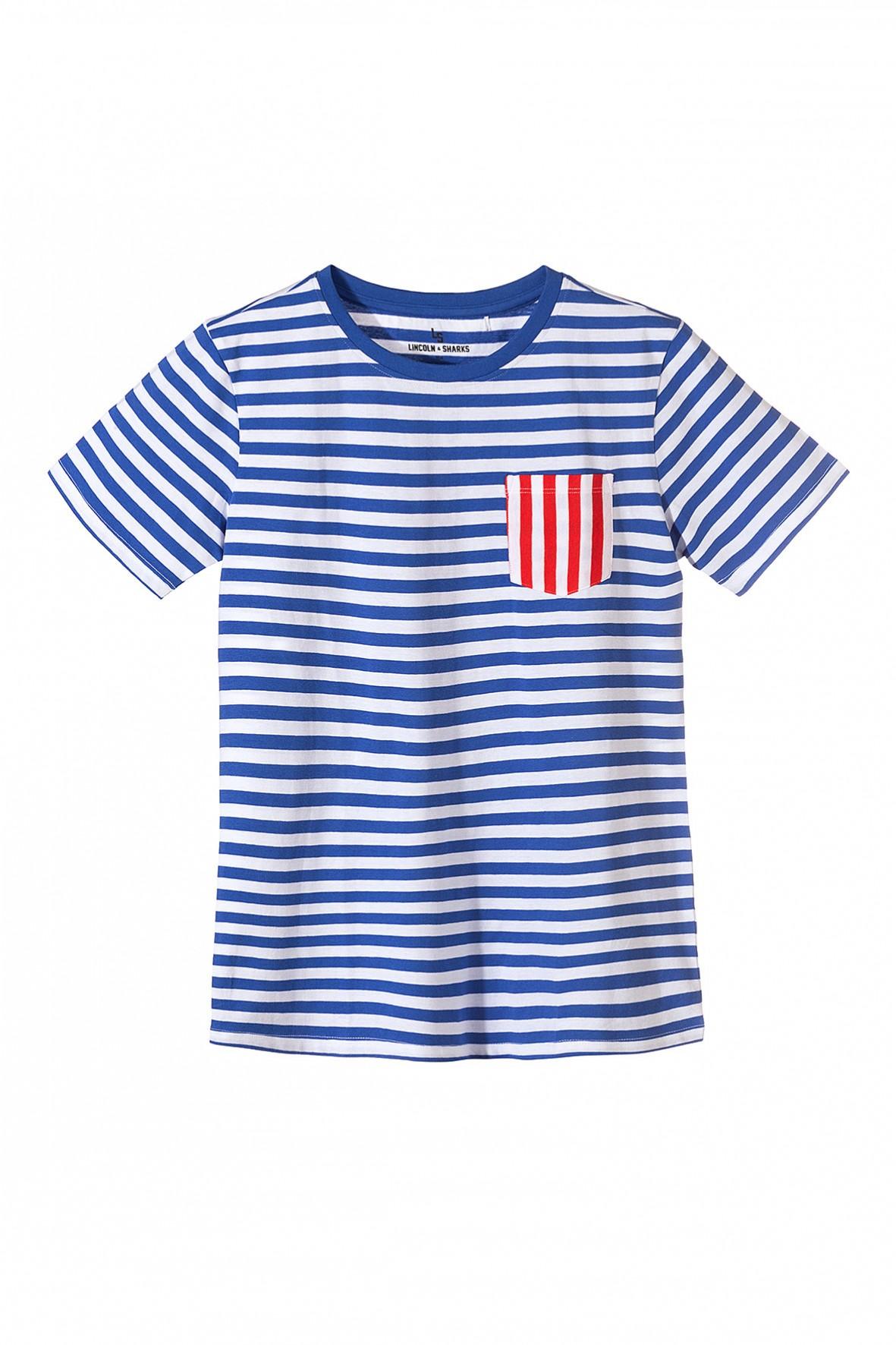 Koszulka chłopięca w biało-niebieskie paski